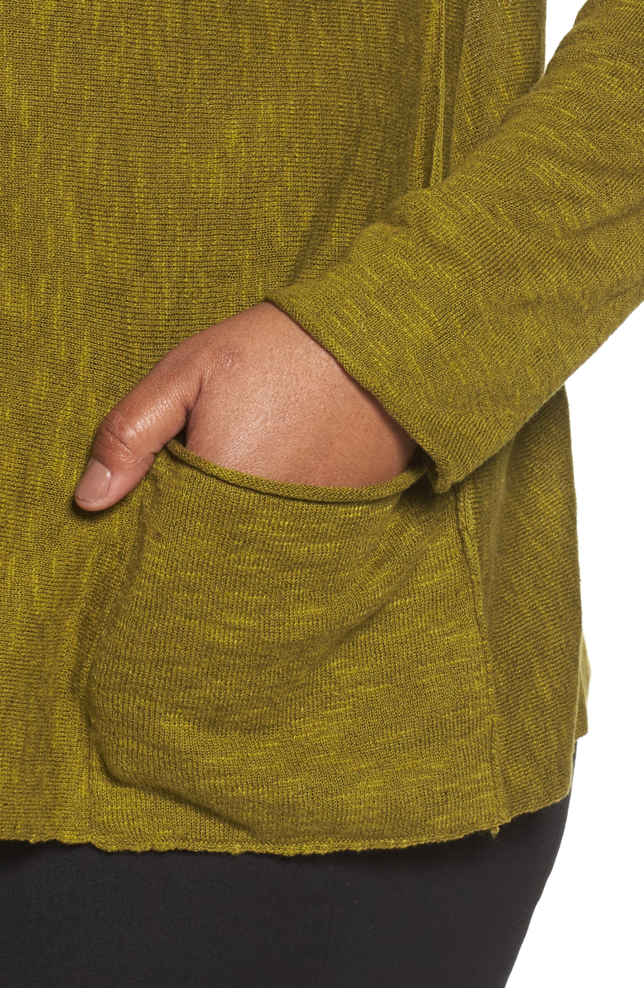 Organic Linen & Cotton Sweater,                             Alternate thumbnail 4, color,                             201