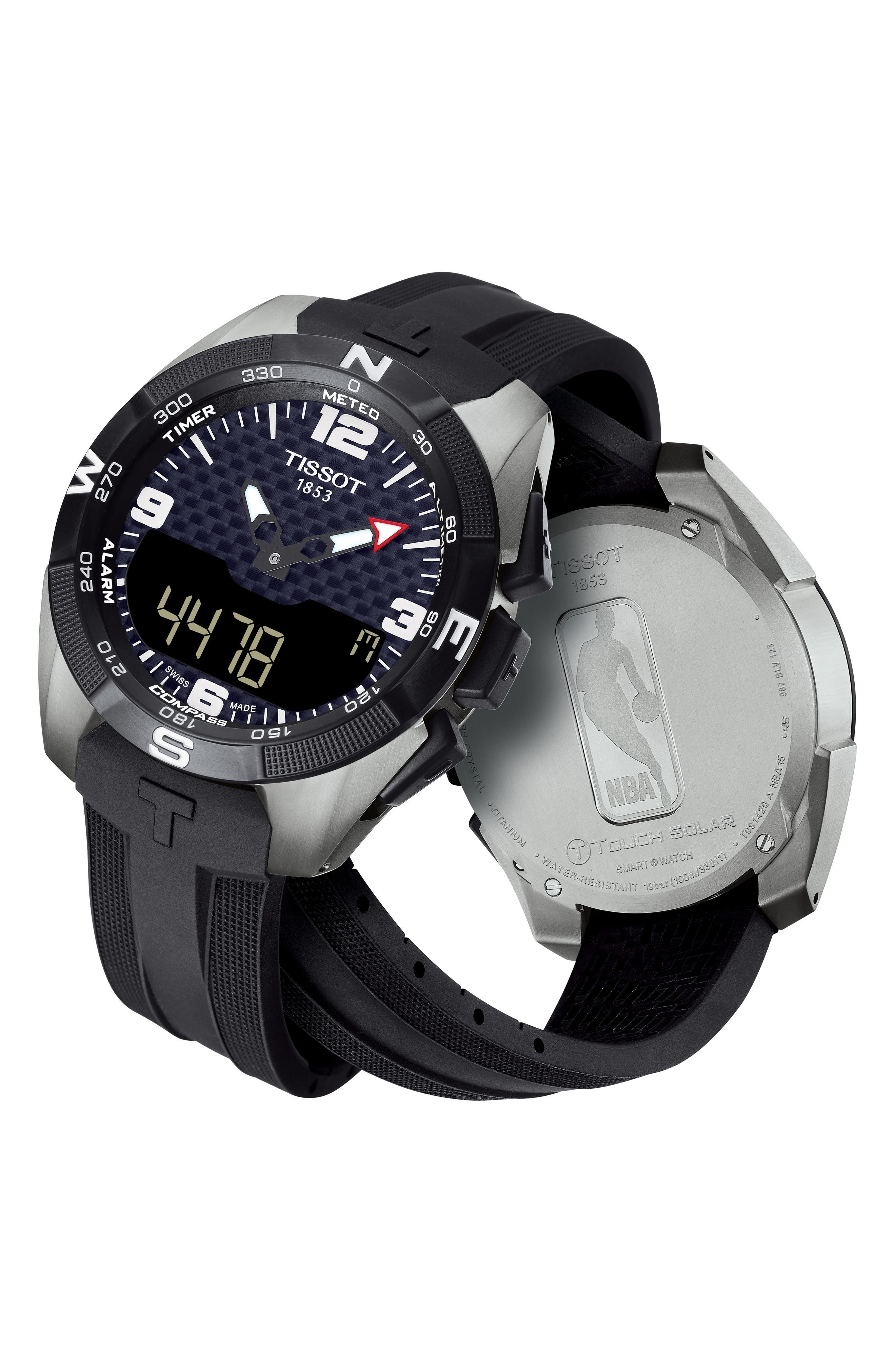 T-Touch Expert Solar Multifunction Smartwatch, 45mm,                             Alternate thumbnail 7, color,