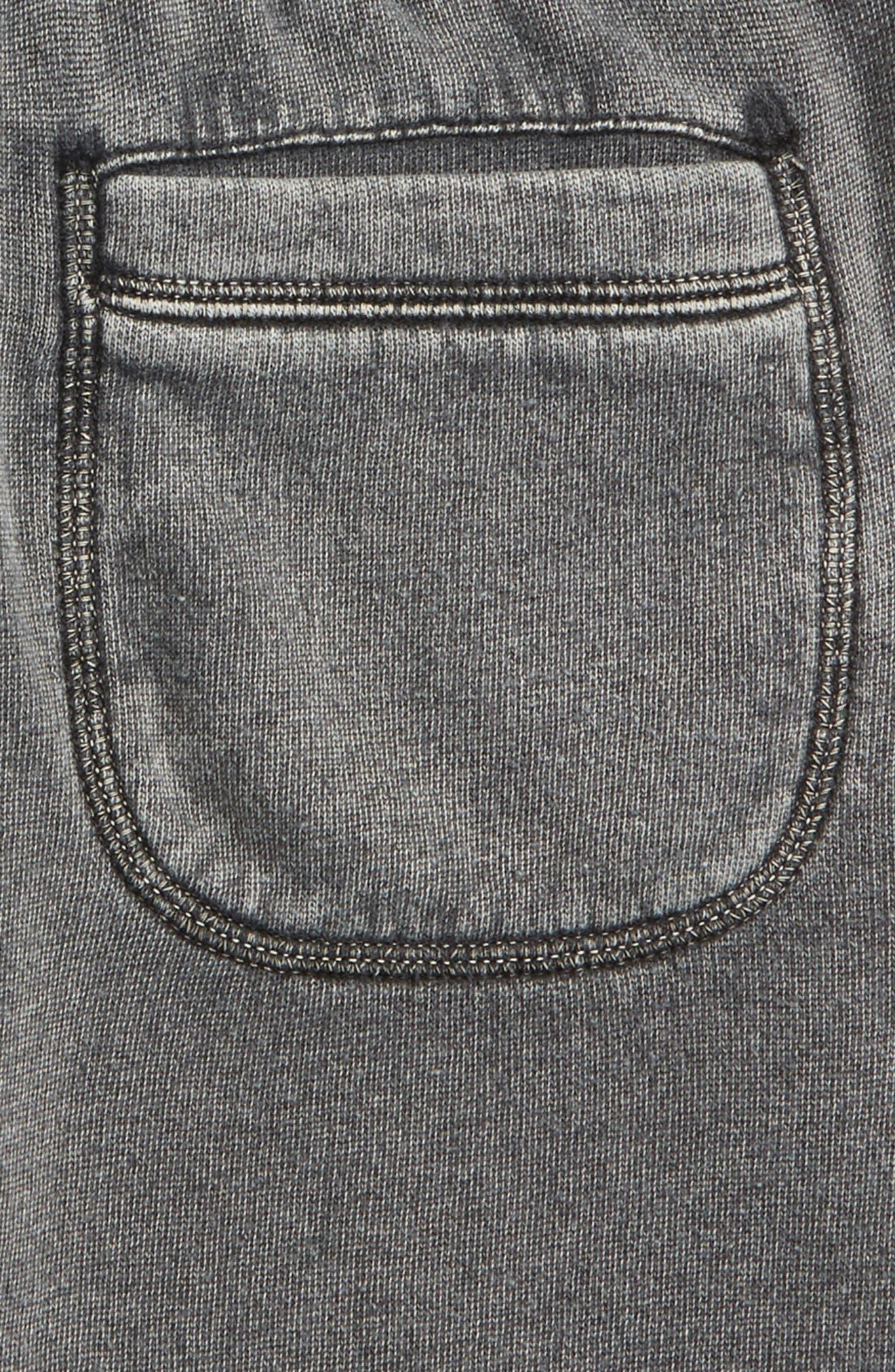 TUCKER + TATE,                             Fleece Shorts,                             Alternate thumbnail 3, color,                             001