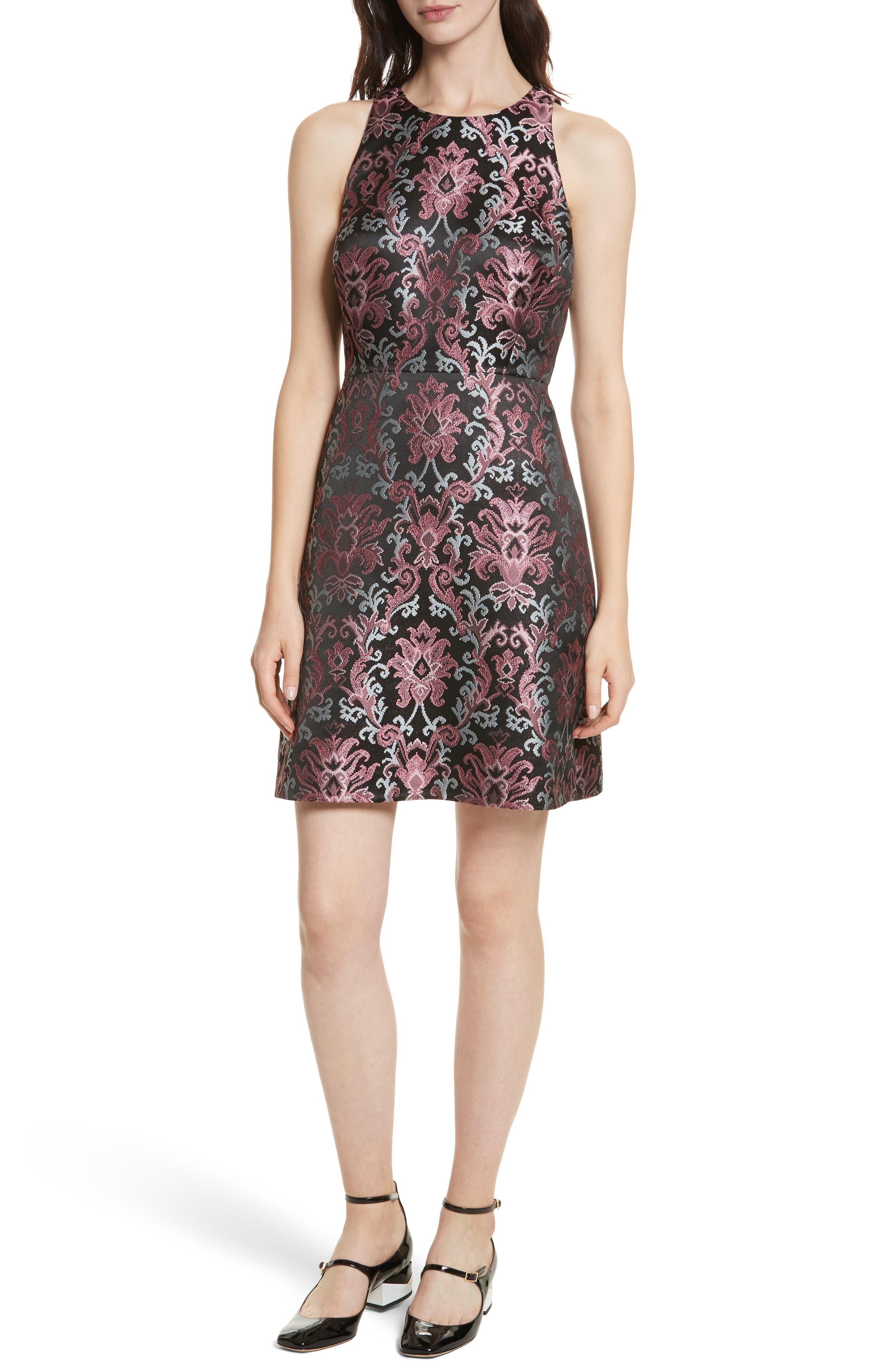tapestry jacquard dress,                             Main thumbnail 1, color,                             004