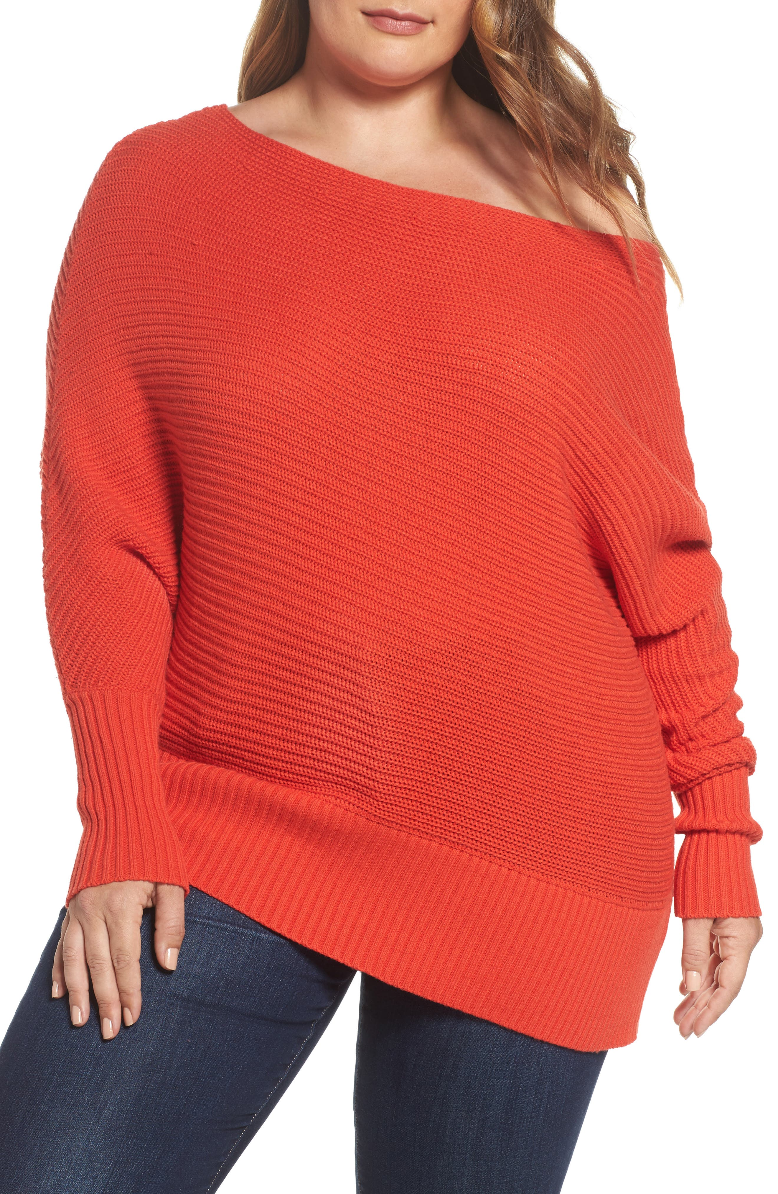 Off the Shoulder Sweater,                             Main thumbnail 2, color,