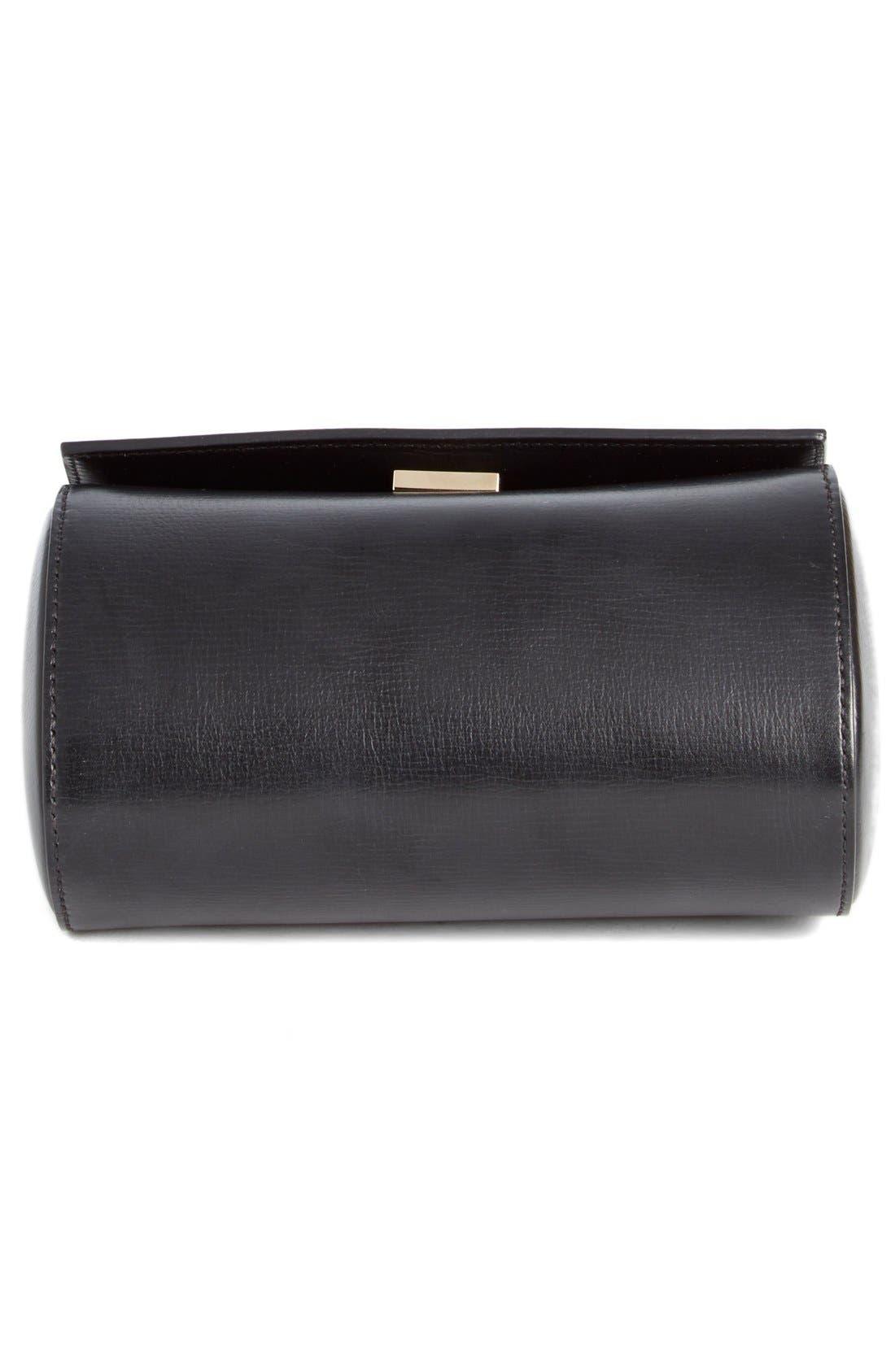 'Mini Pandora Box - Palma' Leather Shoulder Bag,                             Alternate thumbnail 4, color,                             001 BLACK