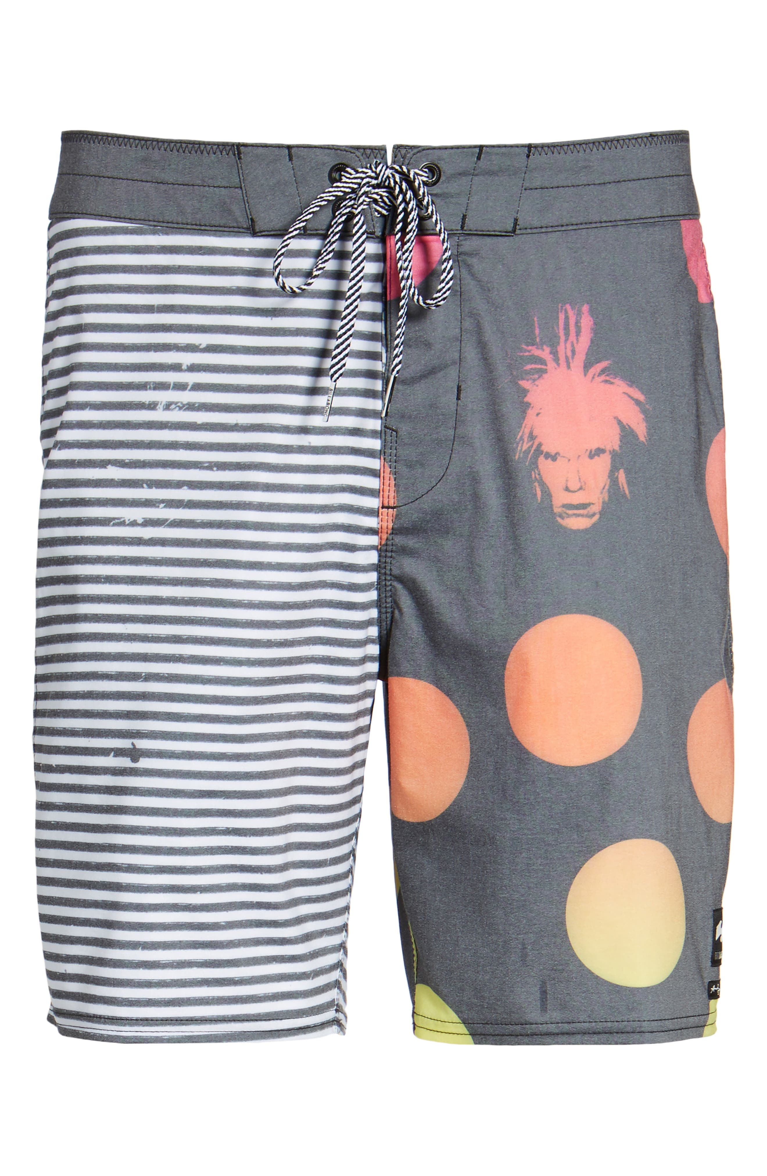 x Warhol EPI Board Shorts,                             Alternate thumbnail 6, color,                             001