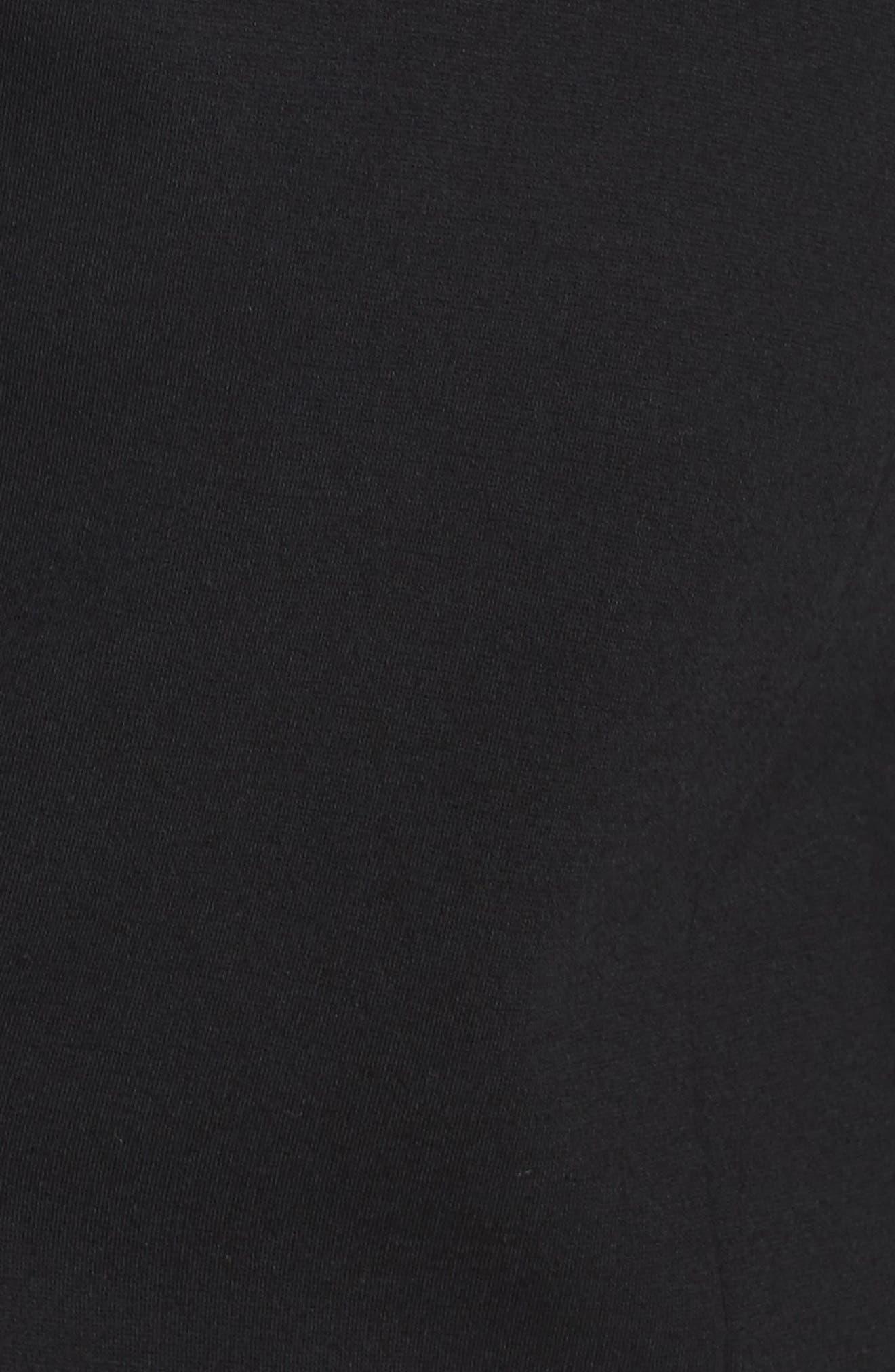 Ruched Sleeve Ponte Blazer,                             Alternate thumbnail 7, color,                             RICH BLACK