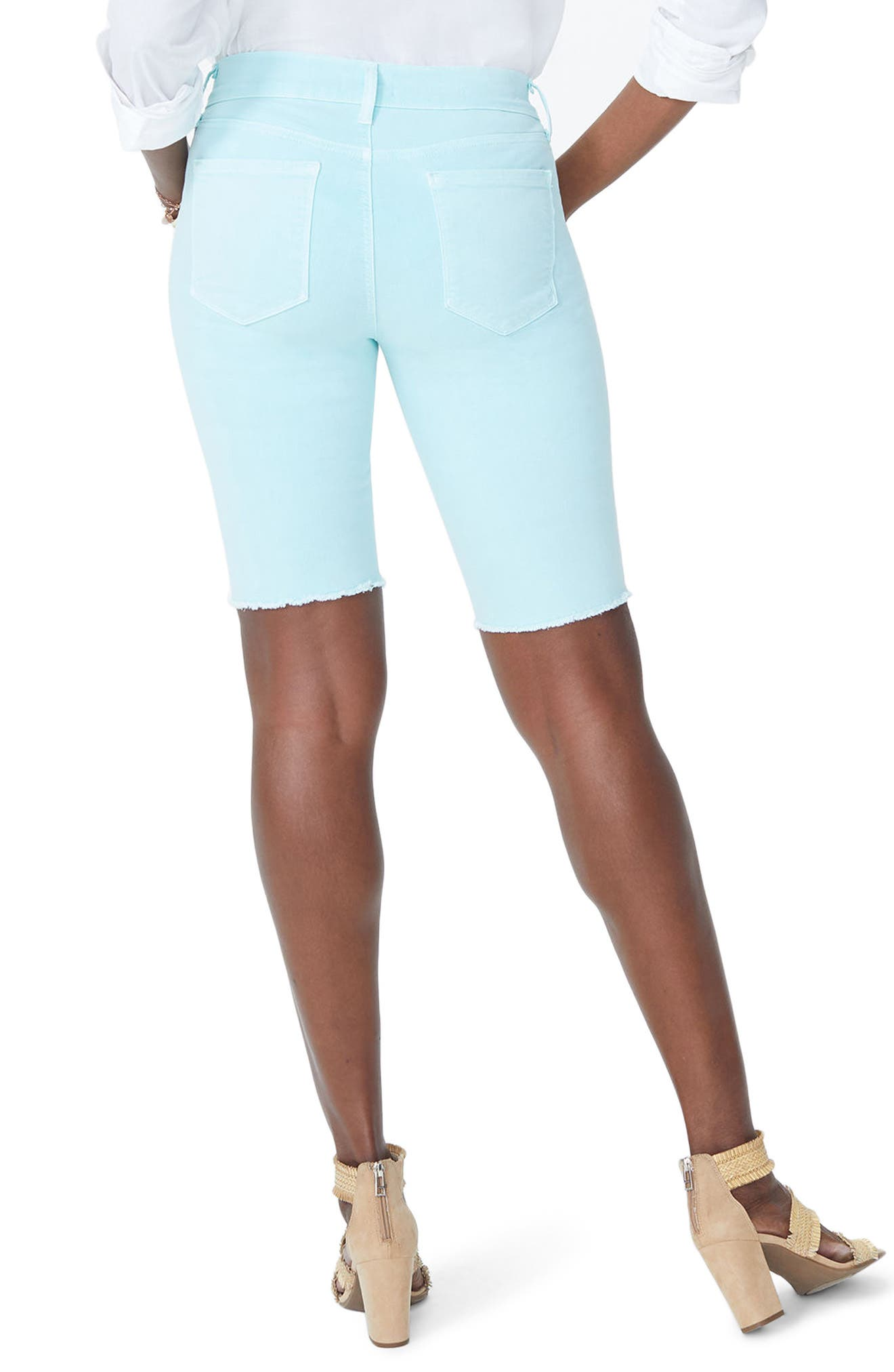 Briella Frayed Hem Bermuda Shorts,                             Alternate thumbnail 7, color,