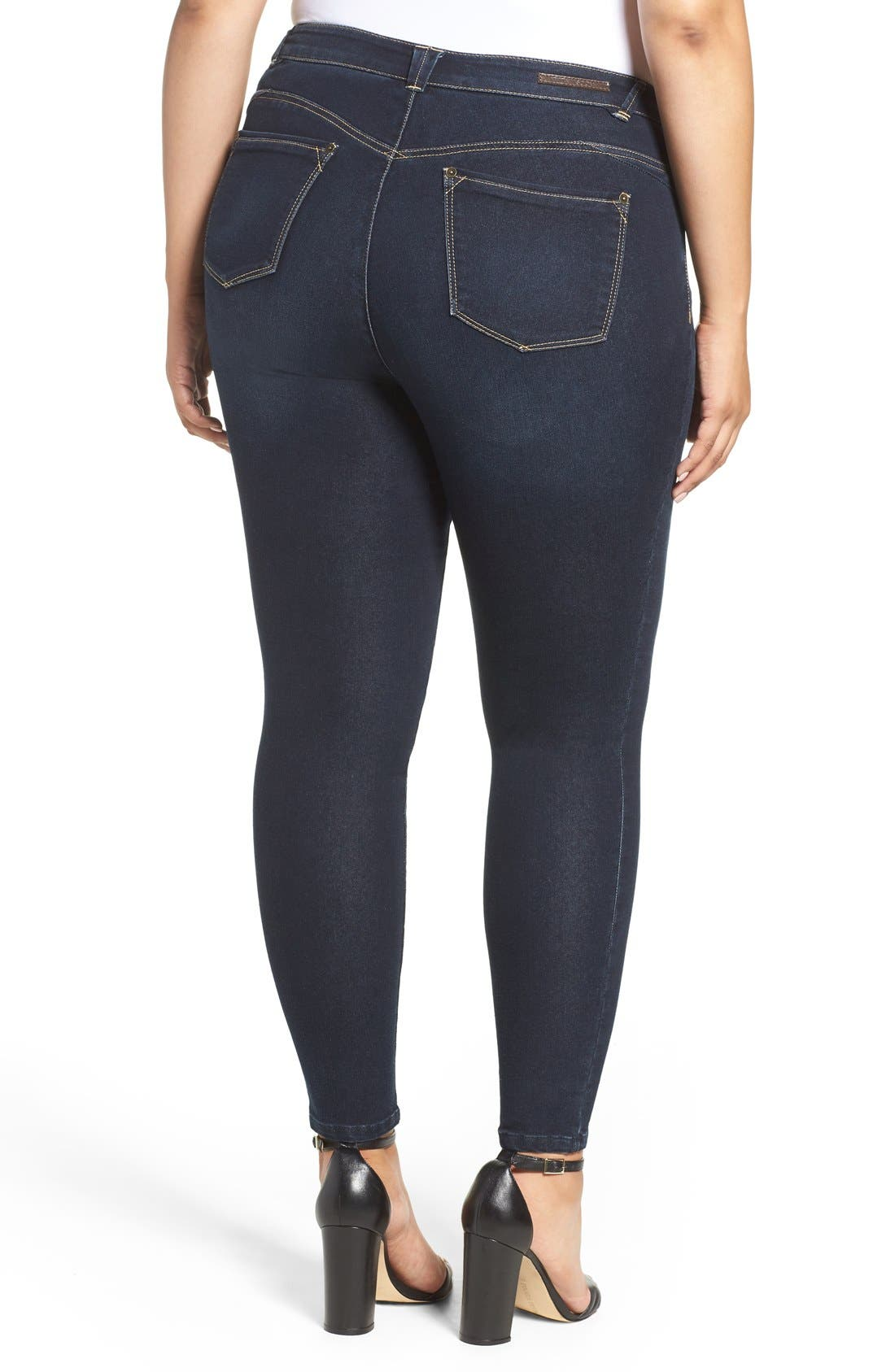 Stretch Skinny Jeans,                             Alternate thumbnail 3, color,