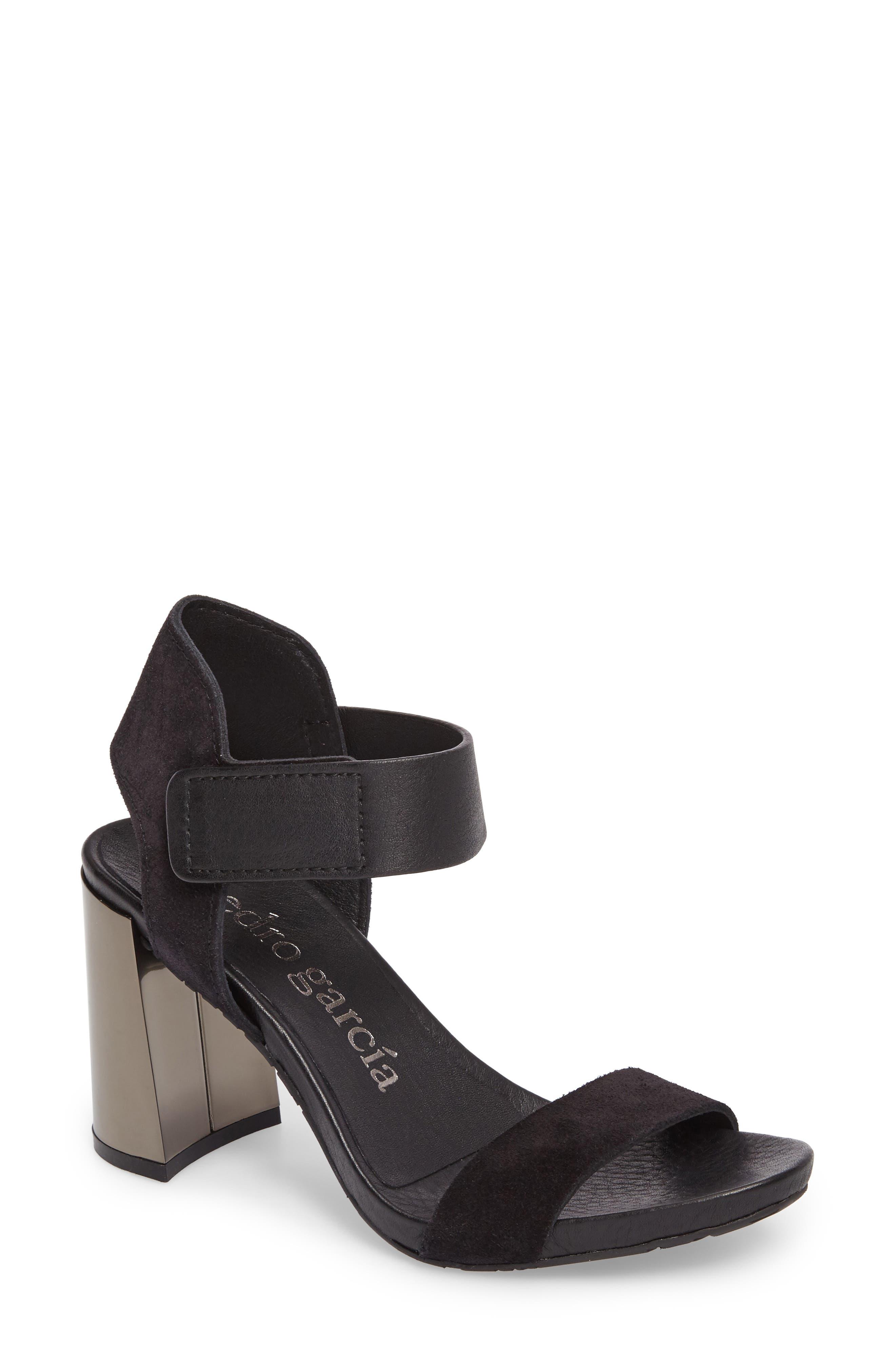 Yenta Sandal,                         Main,                         color, BLACK CASTORO
