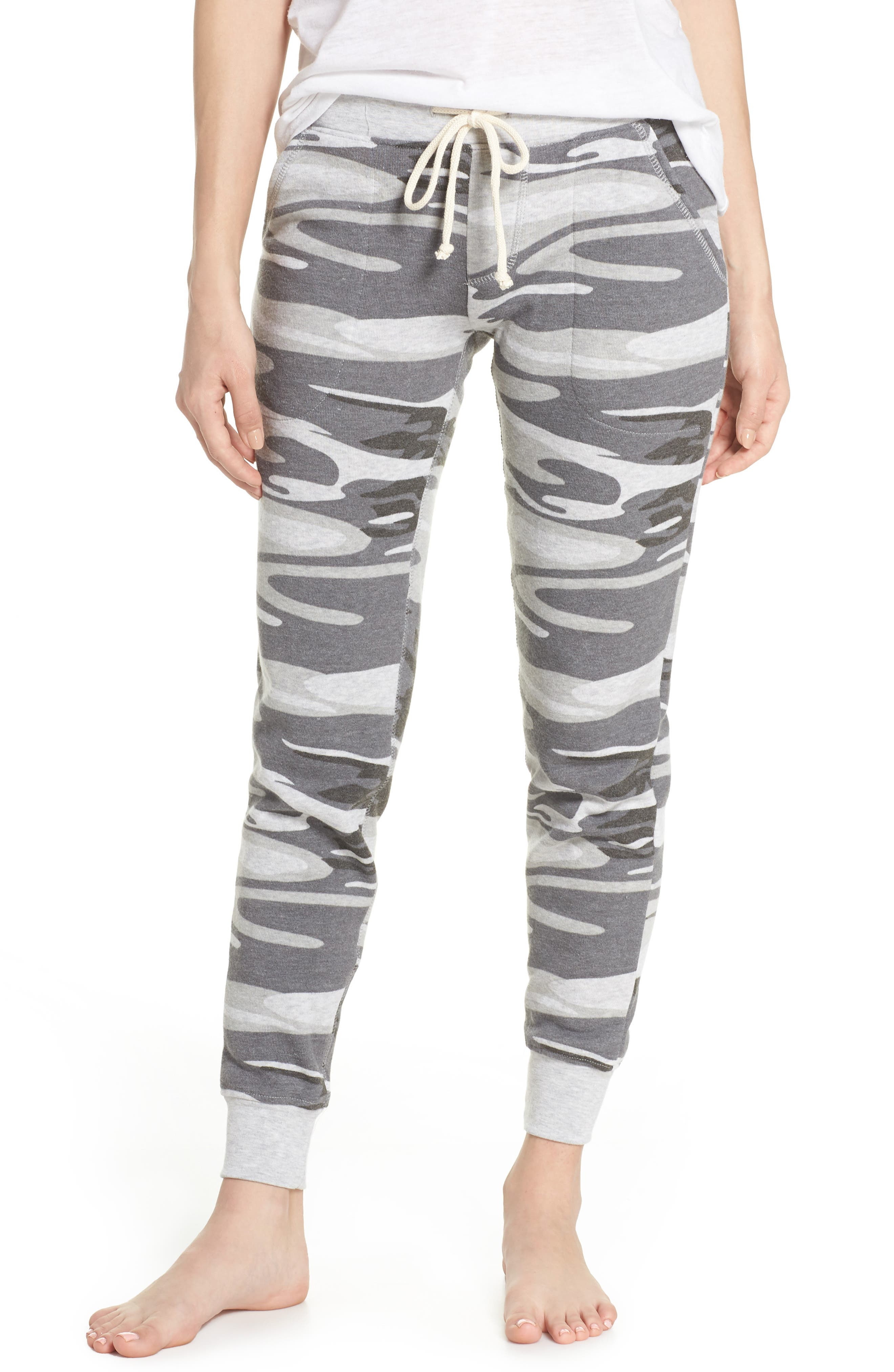 Camo Print Fleece Jogger Pants,                             Main thumbnail 1, color,                             035