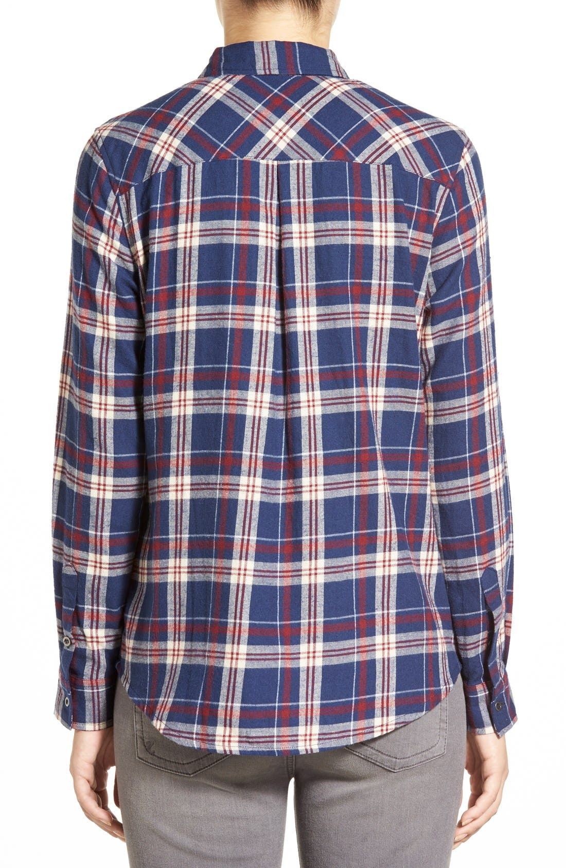 Plaid Cotton Western Shirt,                             Alternate thumbnail 4, color,                             404