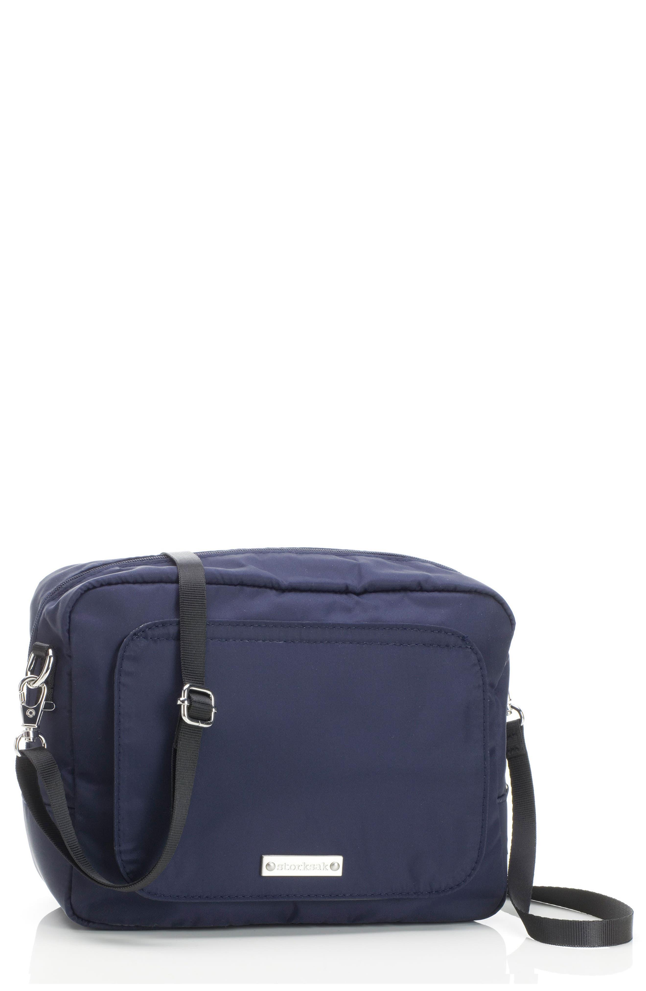 Infant Storksak Mini Fix Crossbody Diaper Bag  Blue