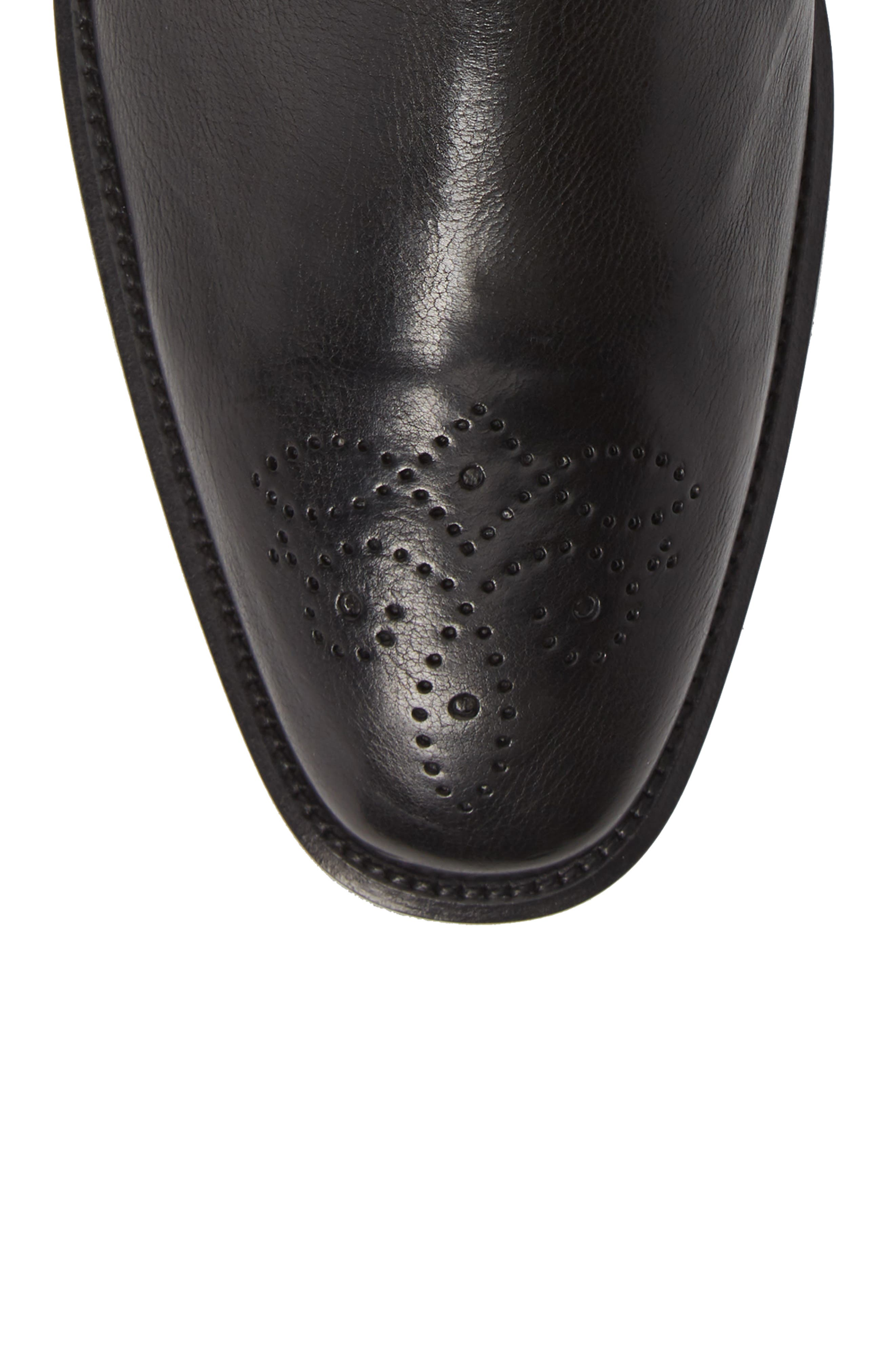 Maxwell Zip Boot,                             Alternate thumbnail 5, color,                             BLACK LEATHER