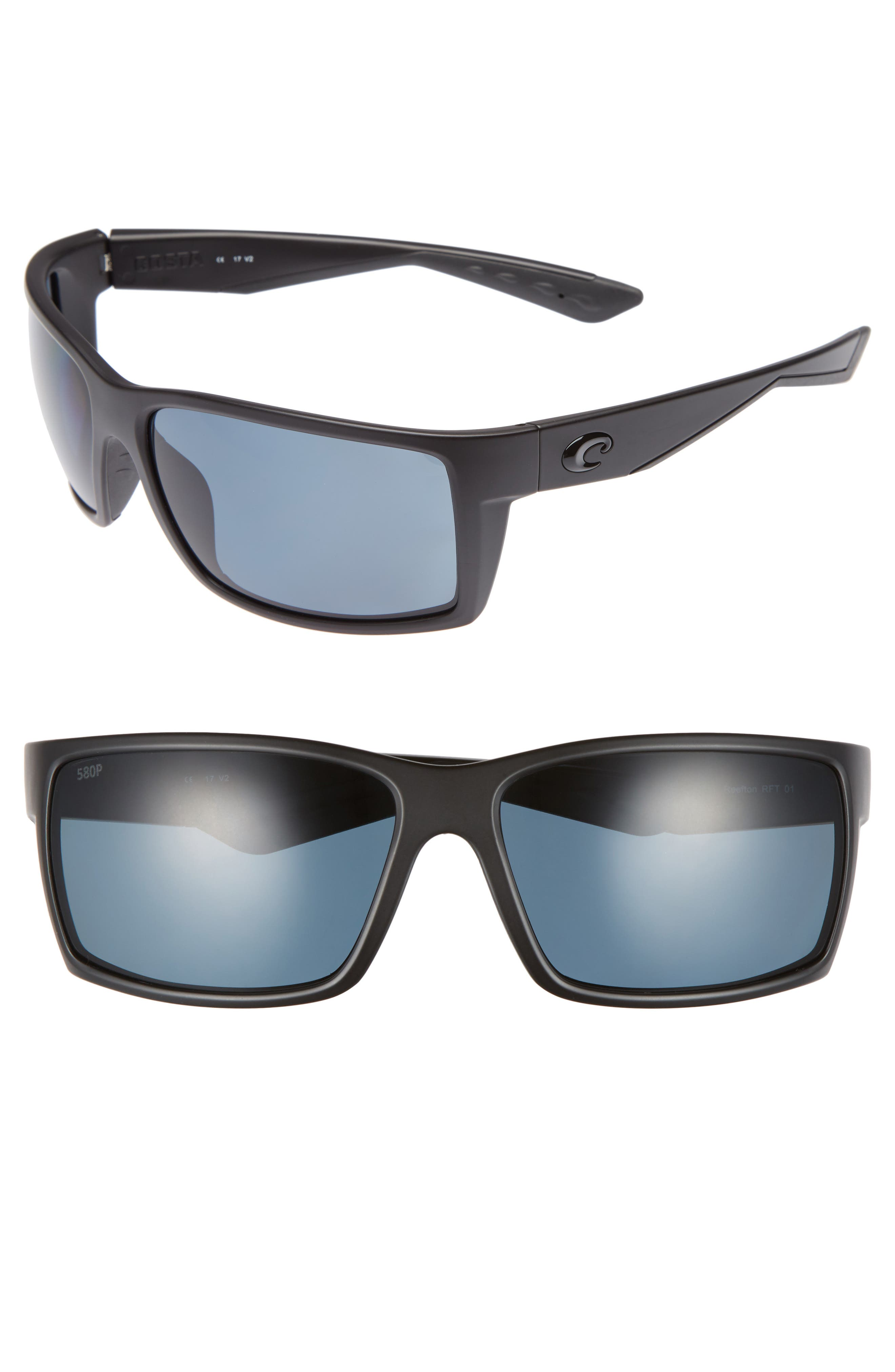 Reefton 65mm Polarized Sunglasses,                         Main,                         color, 001