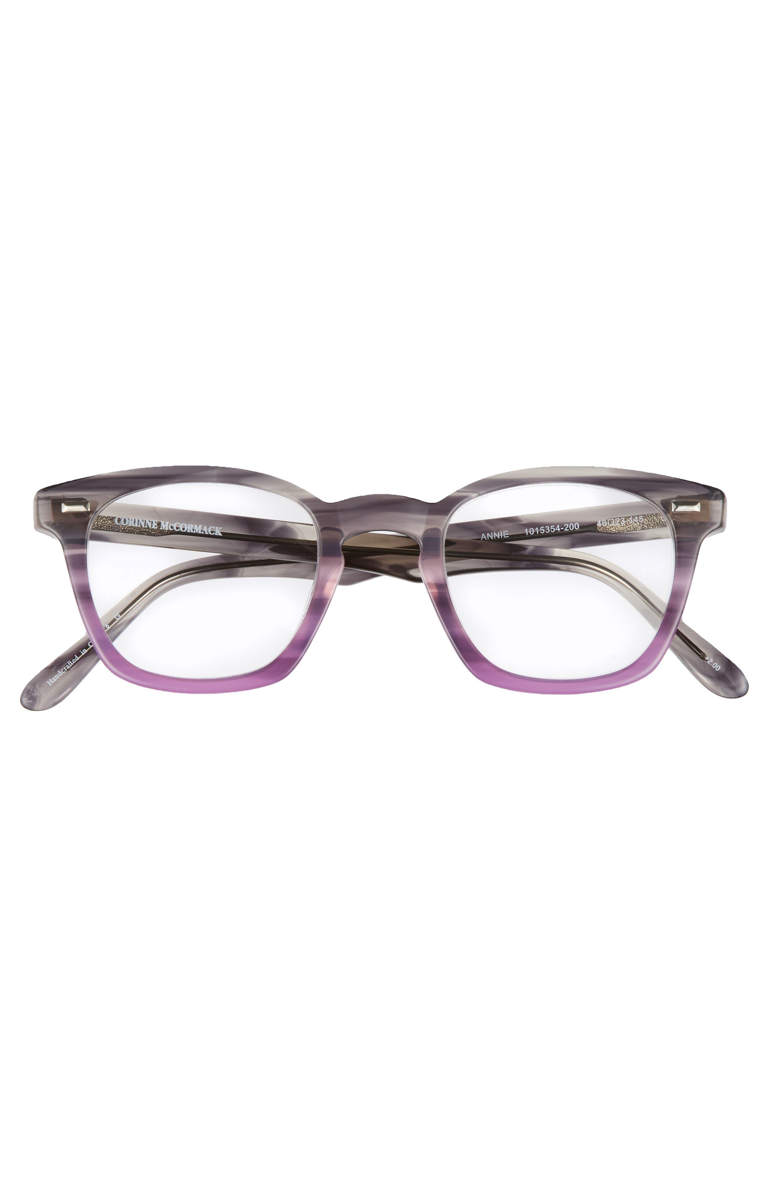 Annie 46mm Reading Glasses,                             Alternate thumbnail 3, color,                             020