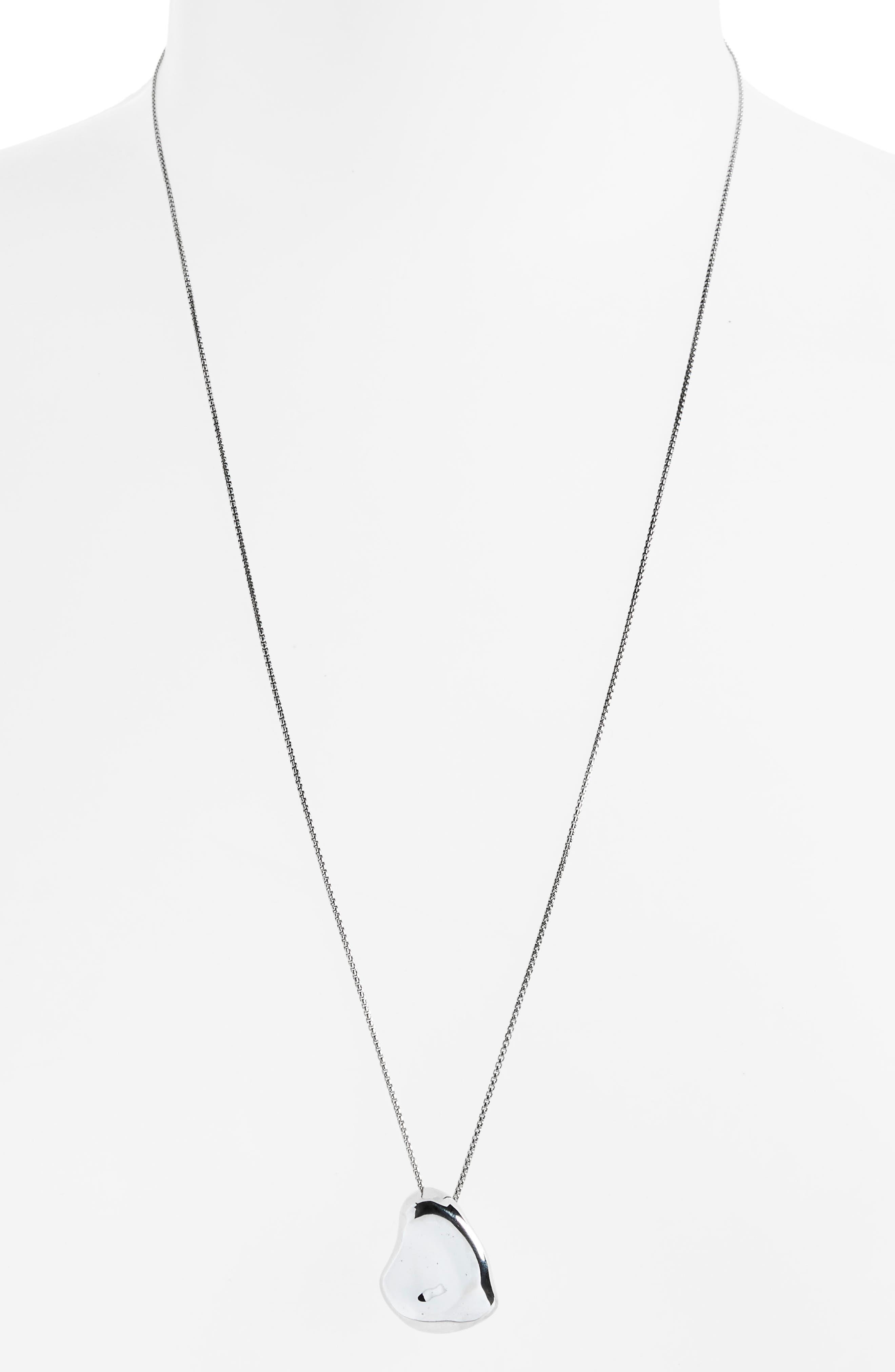 Nug Pendant Necklace,                             Alternate thumbnail 2, color,                             STERLING SILVER
