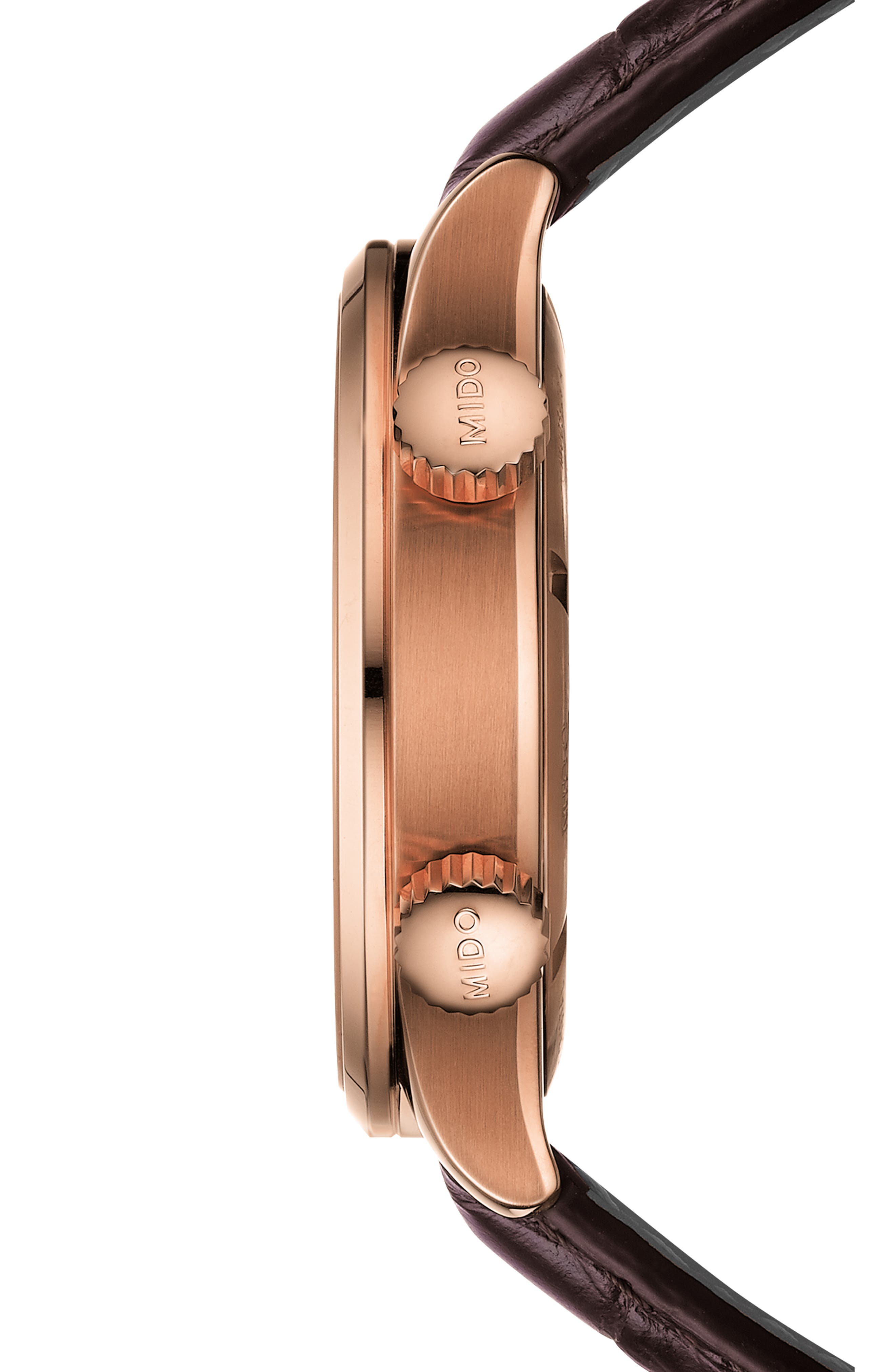 Multifort Automatic Leather Strap Watch, 42mm,                             Alternate thumbnail 3, color,                             200