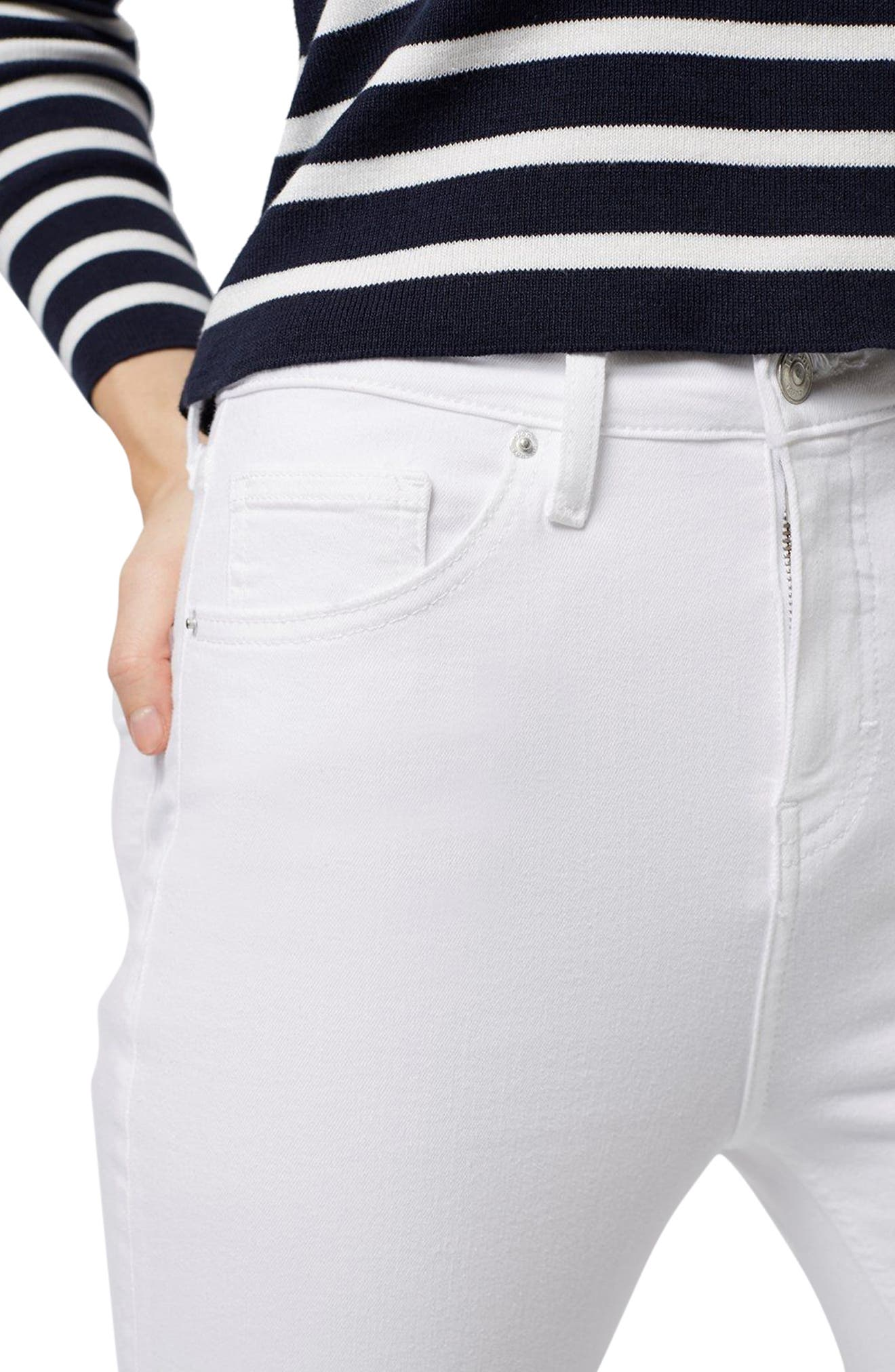 Moto Jamie Jeans,                             Alternate thumbnail 3, color,                             WHITE