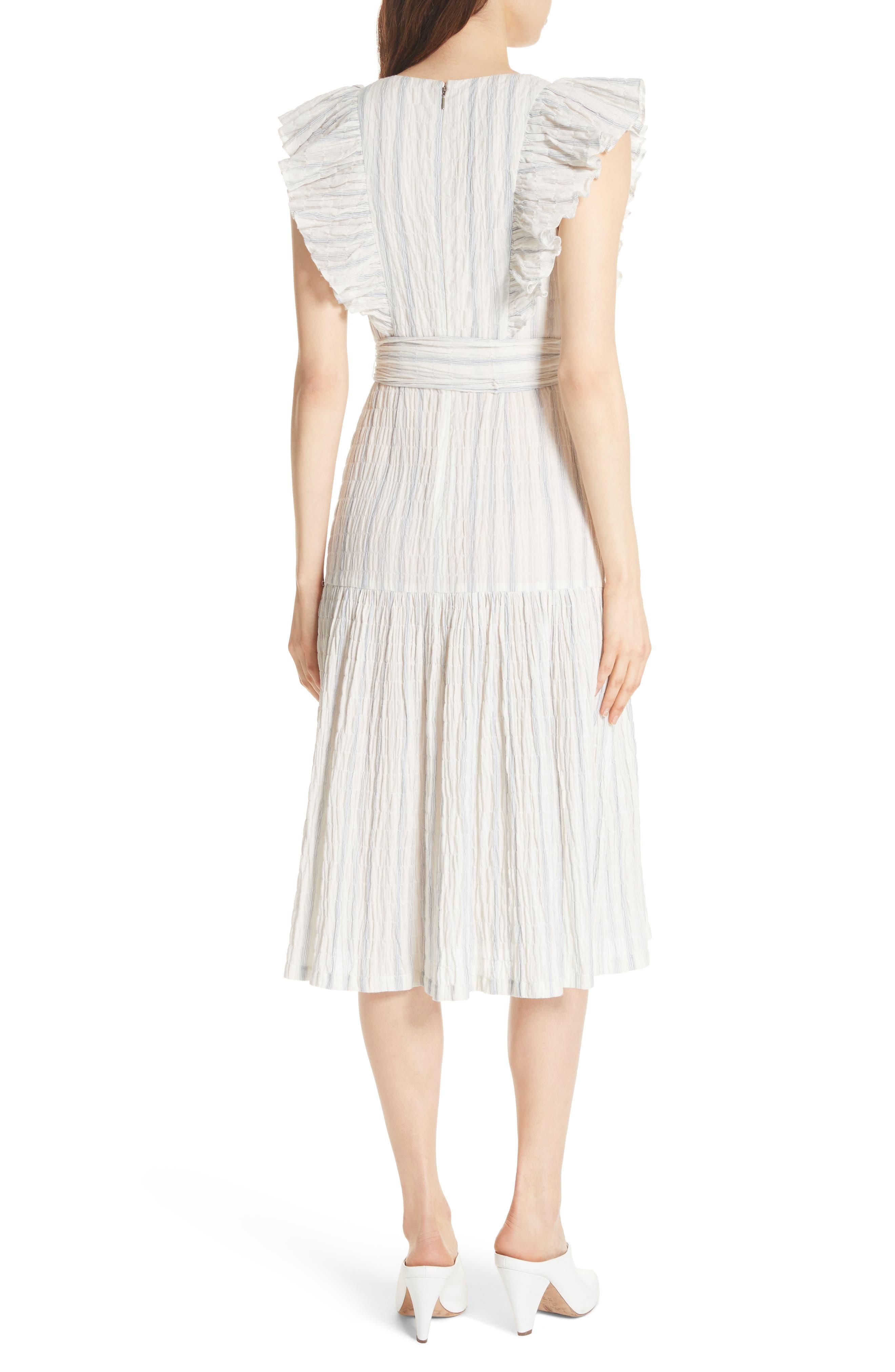 Stripe Midi Dress,                             Alternate thumbnail 2, color,                             103