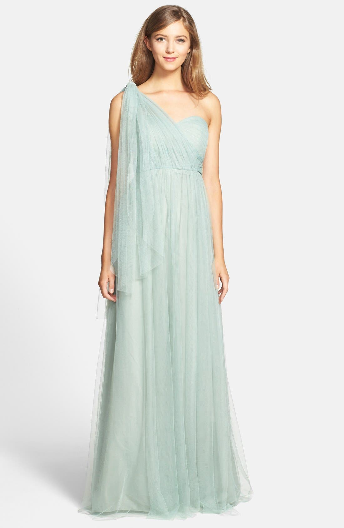 Annabelle Convertible Tulle Column Dress,                             Alternate thumbnail 133, color,