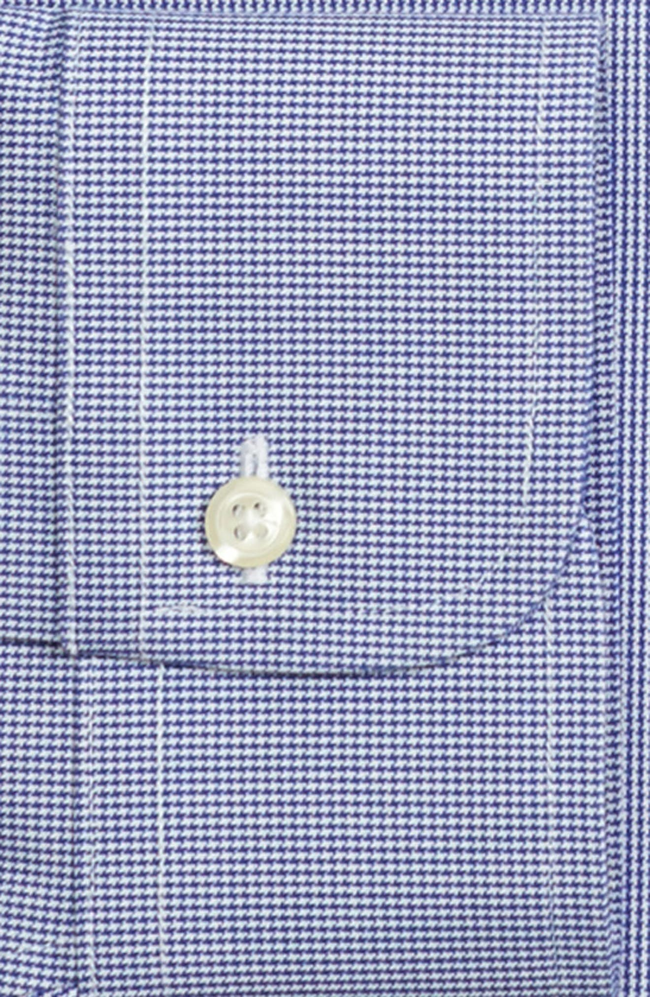 Classic Fit Houndstooth Dress Shirt,                             Alternate thumbnail 2, color,                             BLUE