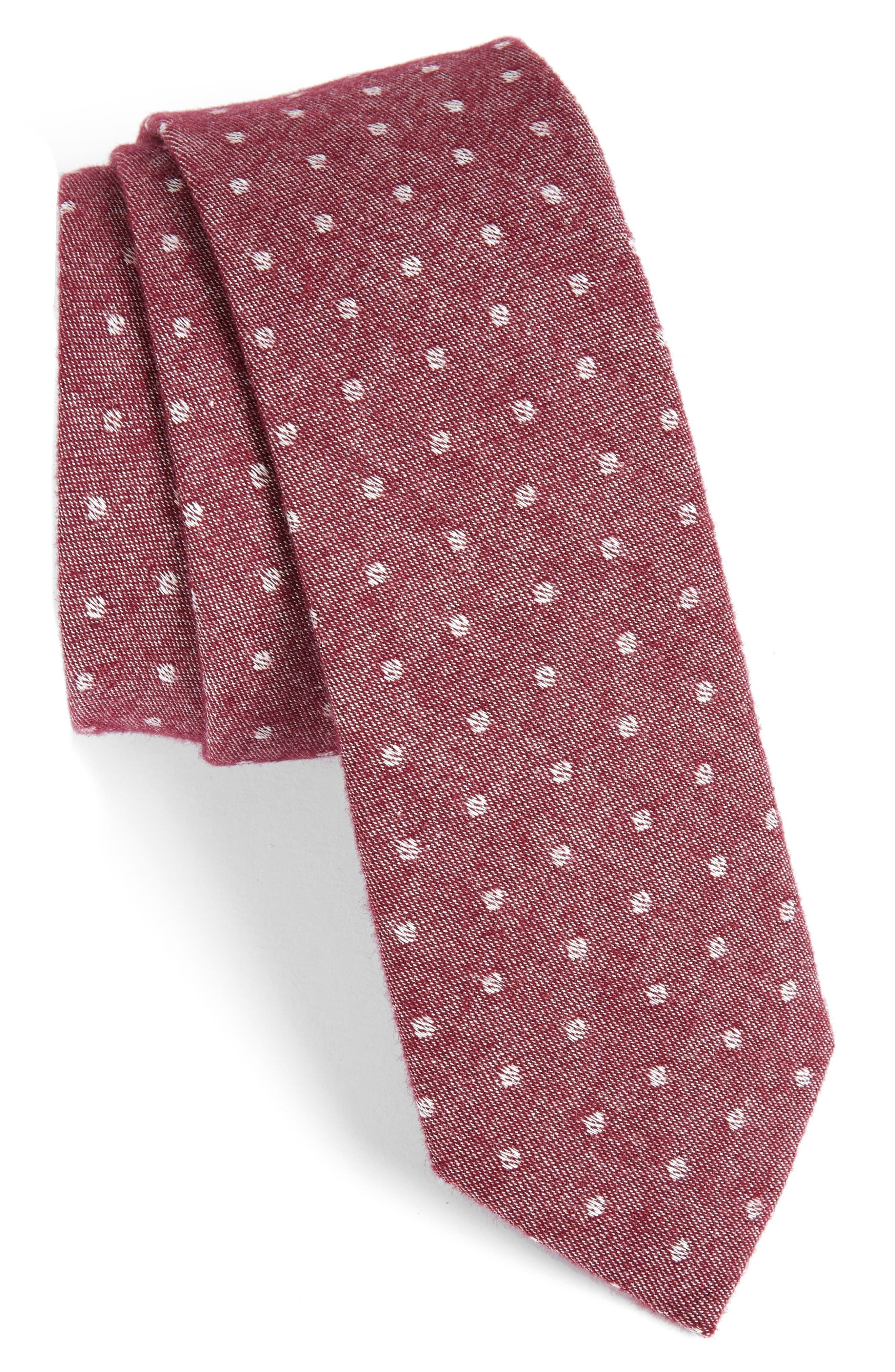 Dot Cotton Tie,                             Main thumbnail 3, color,