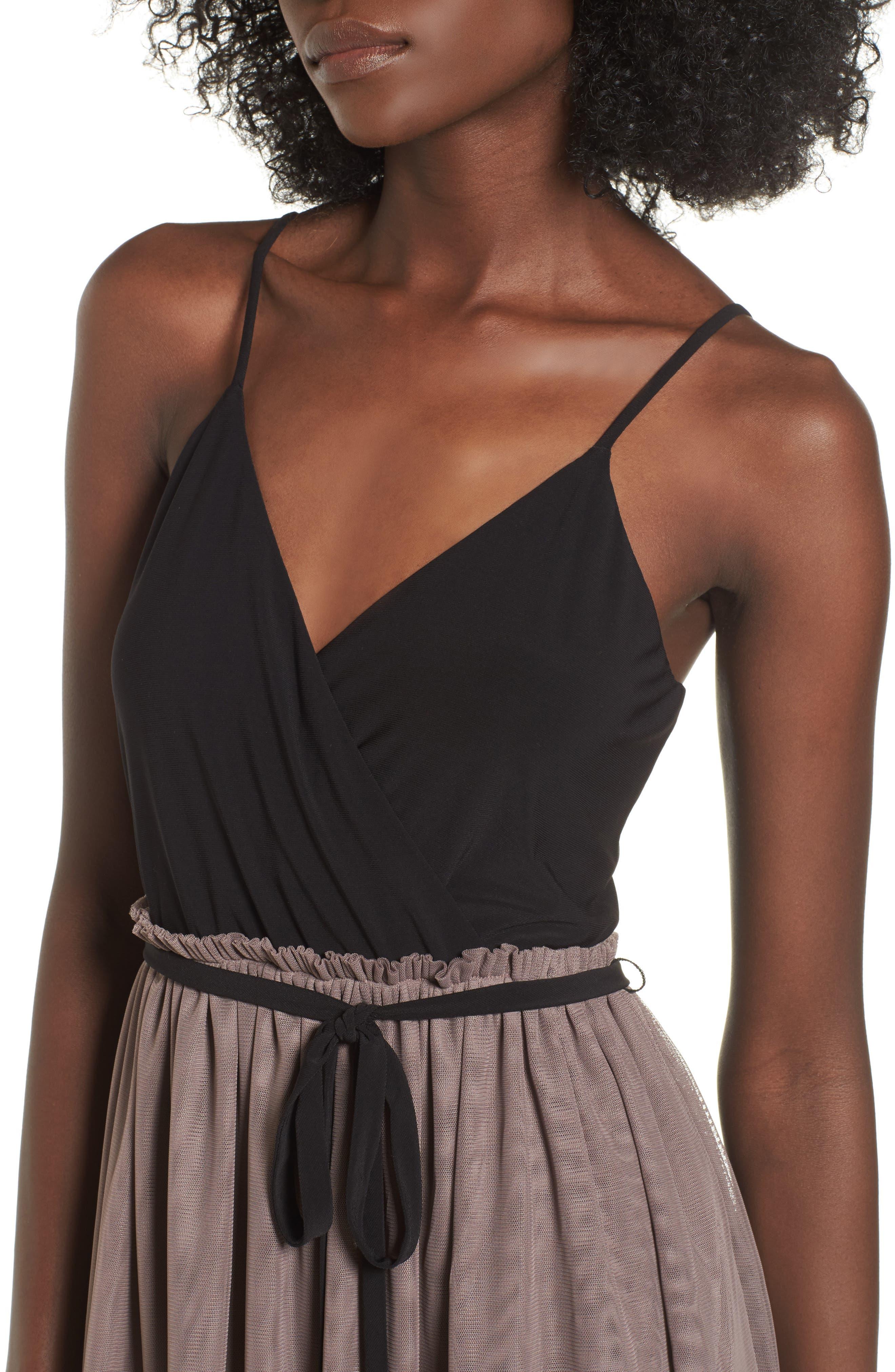 Mixed Media Midi Dress,                             Alternate thumbnail 4, color,                             238