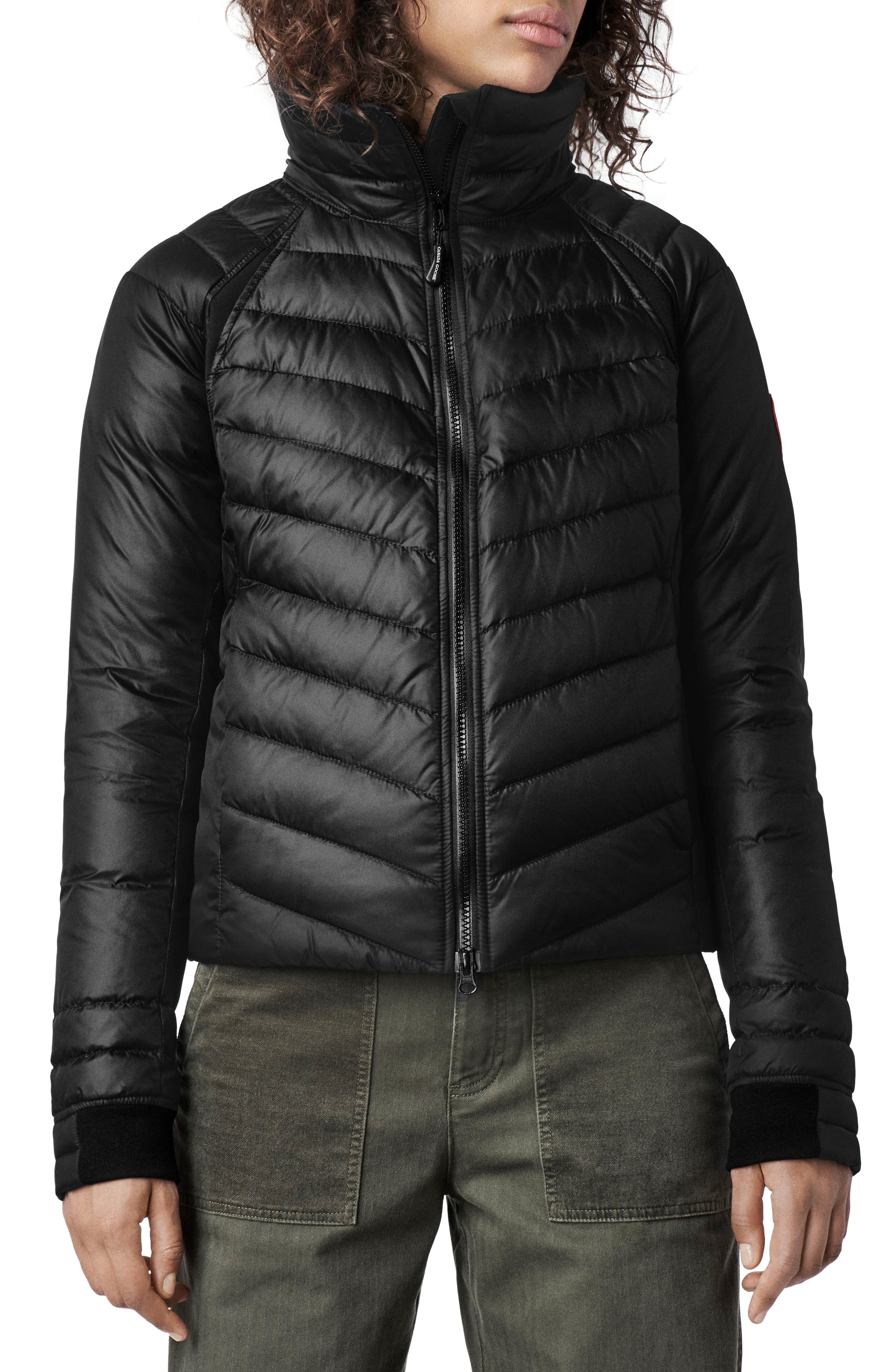 Canada Goose Hybridge Base Water Resistant 800 Fill Power Down Insulated Jacket, (0) - Black