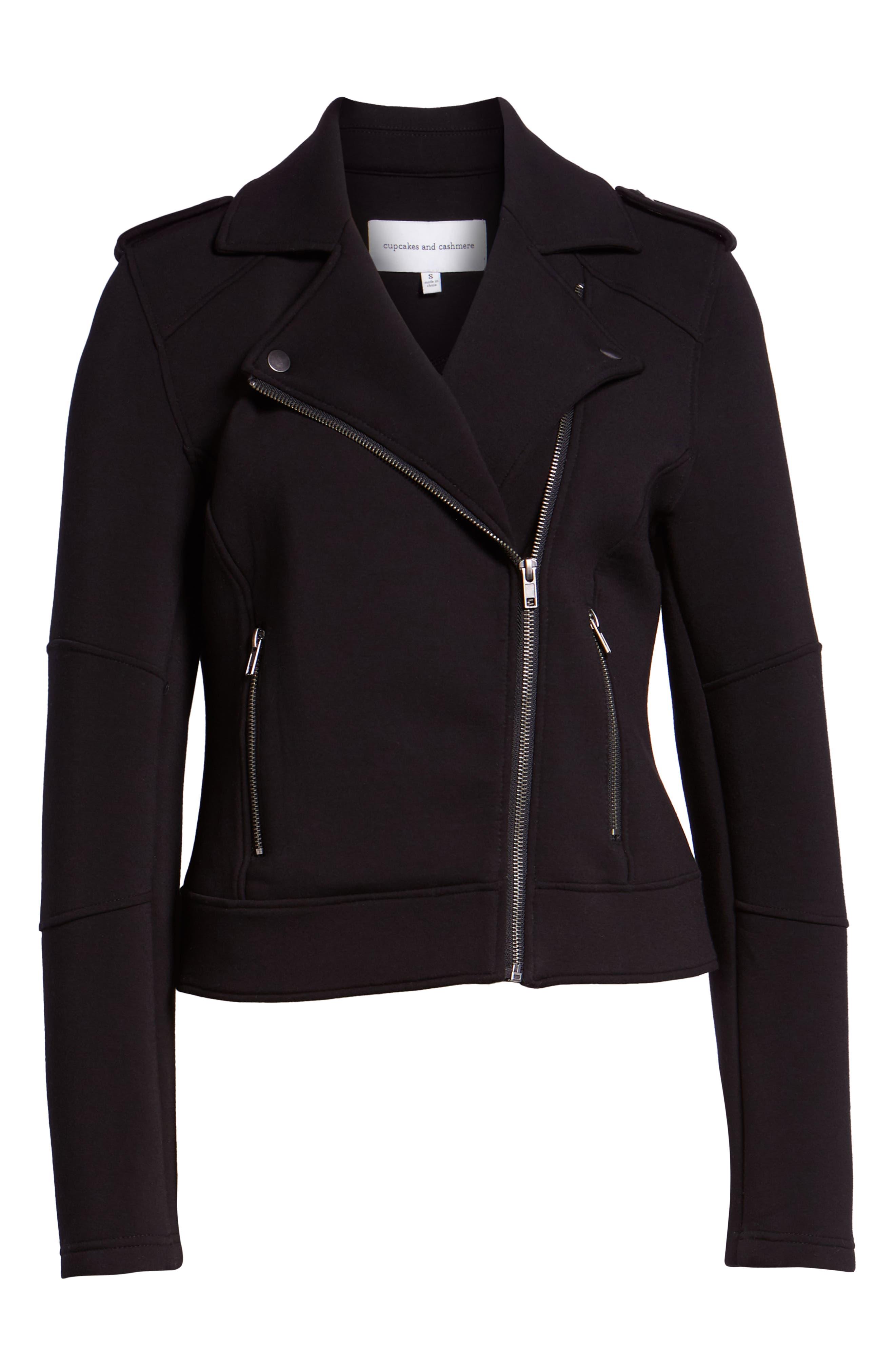 Harlei Scuba Moto Jacket,                             Alternate thumbnail 6, color,                             001