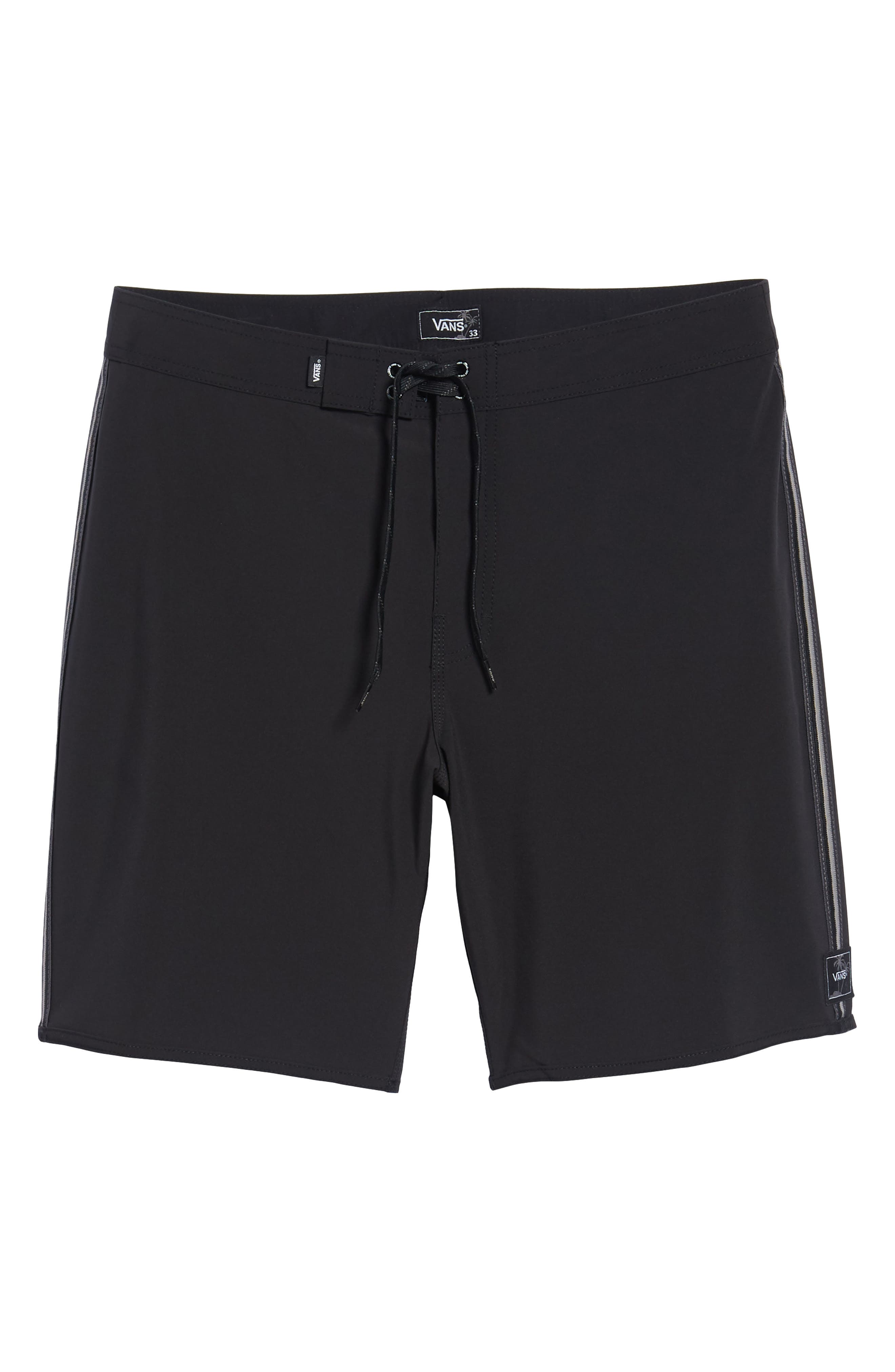 Houser Side Stripe Board Shorts,                             Alternate thumbnail 6, color,                             001
