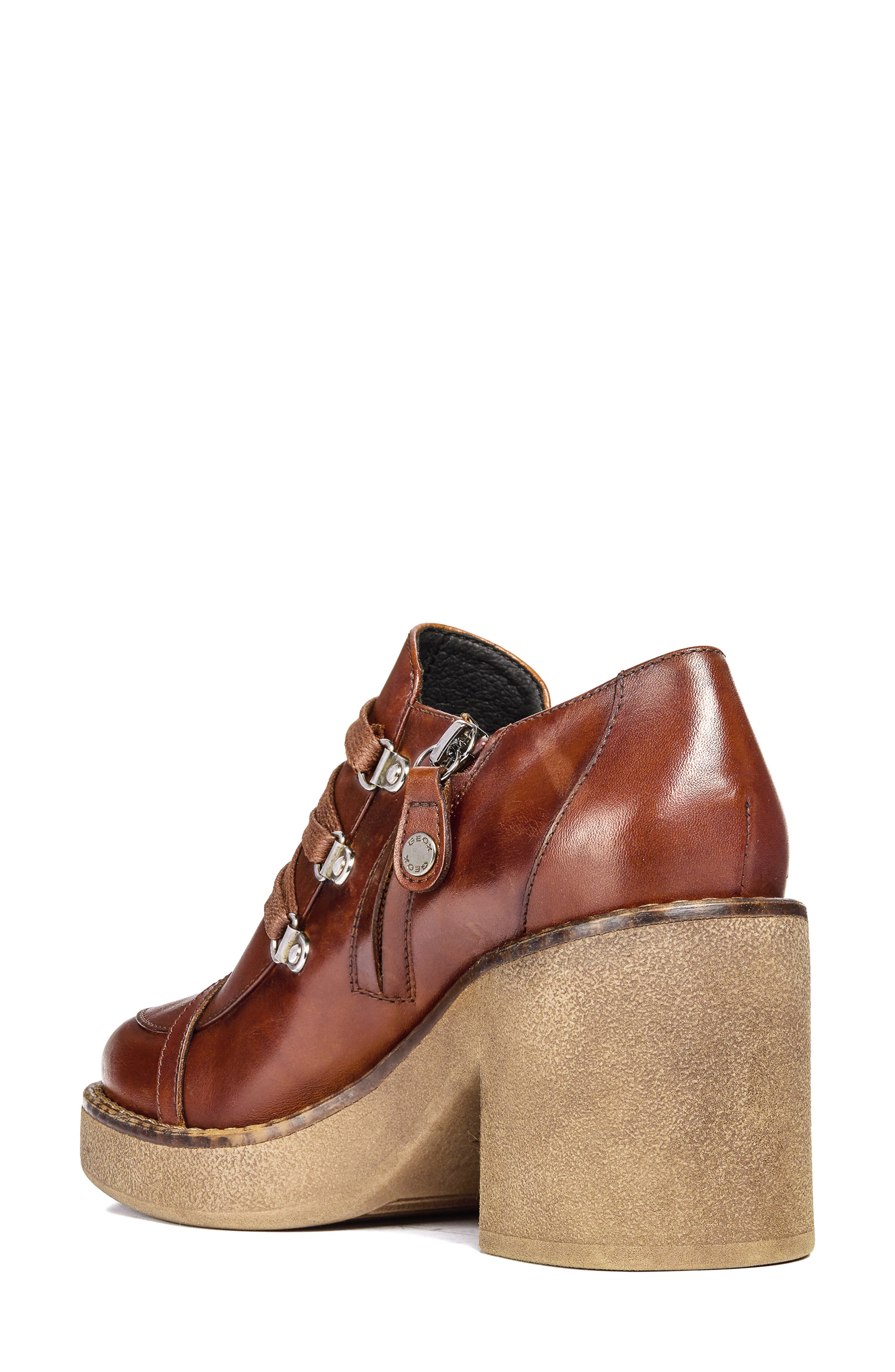 Adrya Bootie,                             Alternate thumbnail 2, color,                             BROWN LEATHER