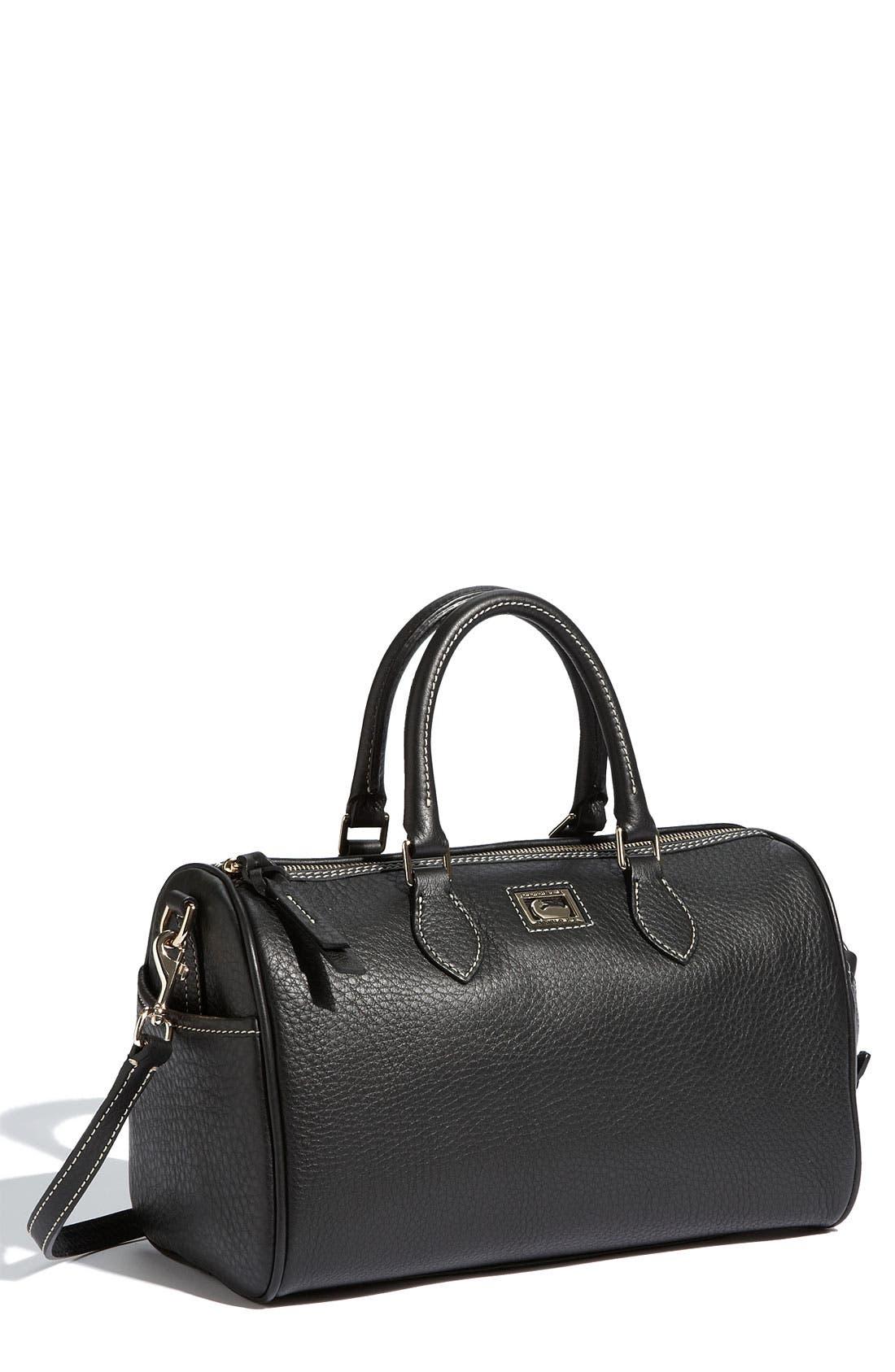 Leather Satchel, Main, color, 001