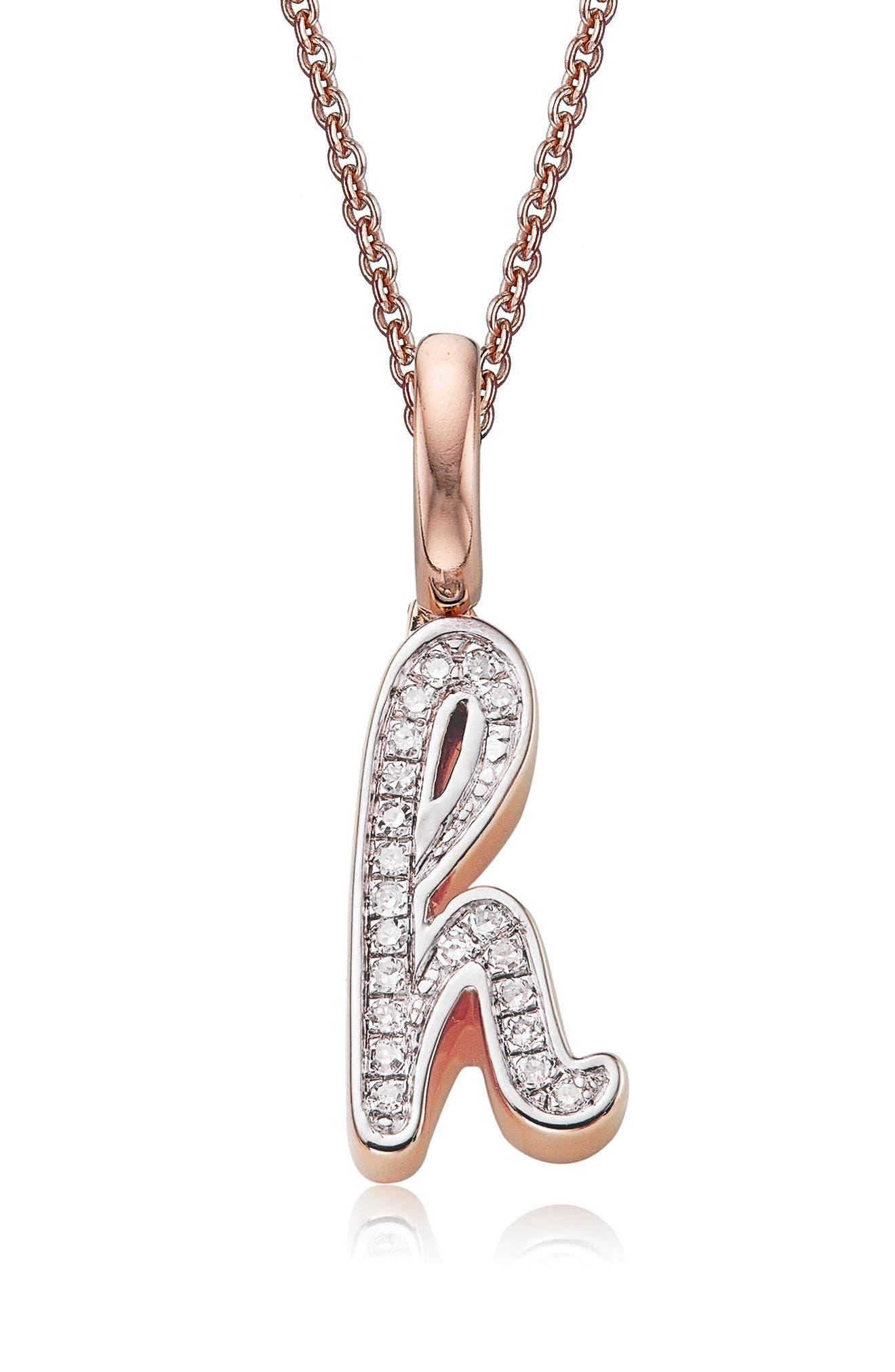 Diamond Initial Pendant Charm,                         Main,                         color, 658