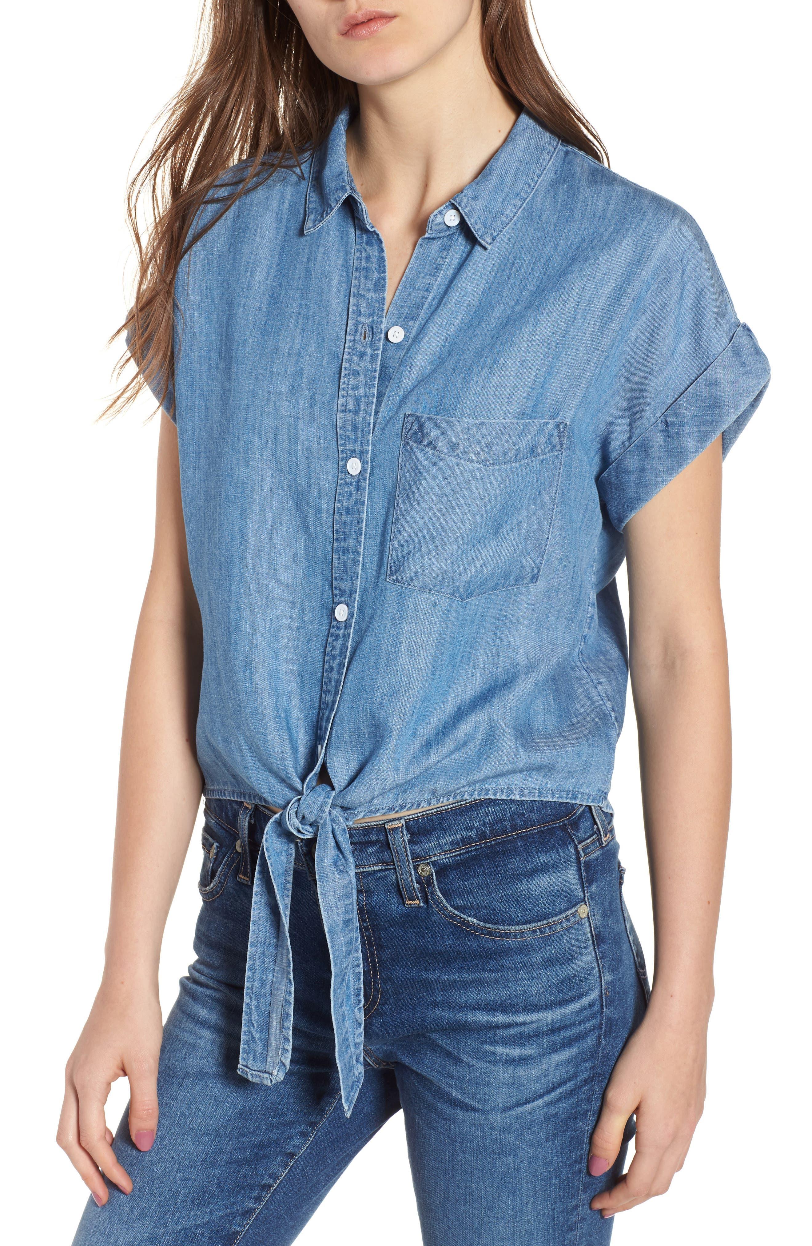 Amelie Tie Front Shirt,                         Main,                         color, 493