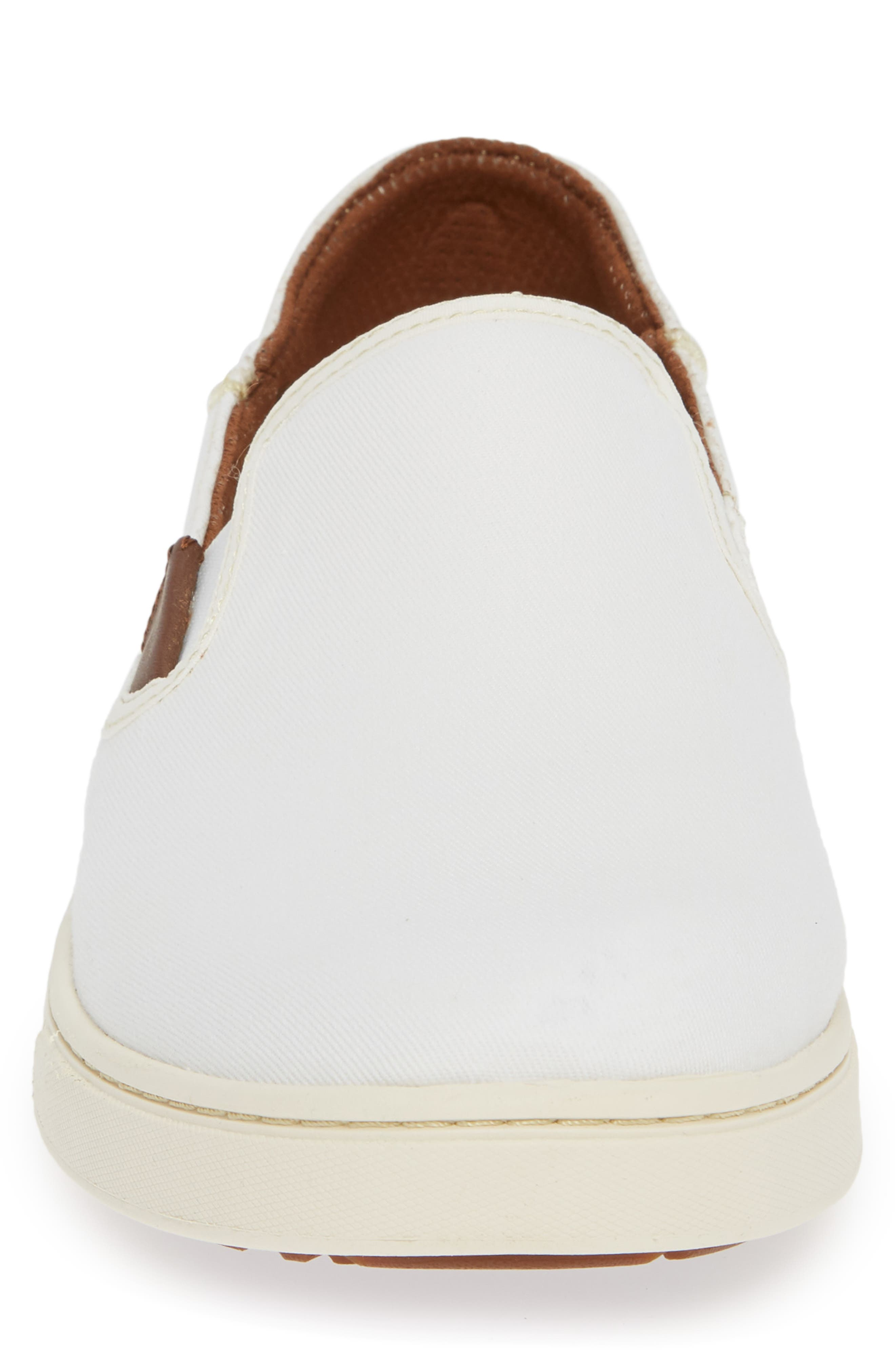 Kahu Collapsible Slip-On Sneaker,                             Alternate thumbnail 4, color,                             OFF WHITE/ OFF WHITE TEXTILE