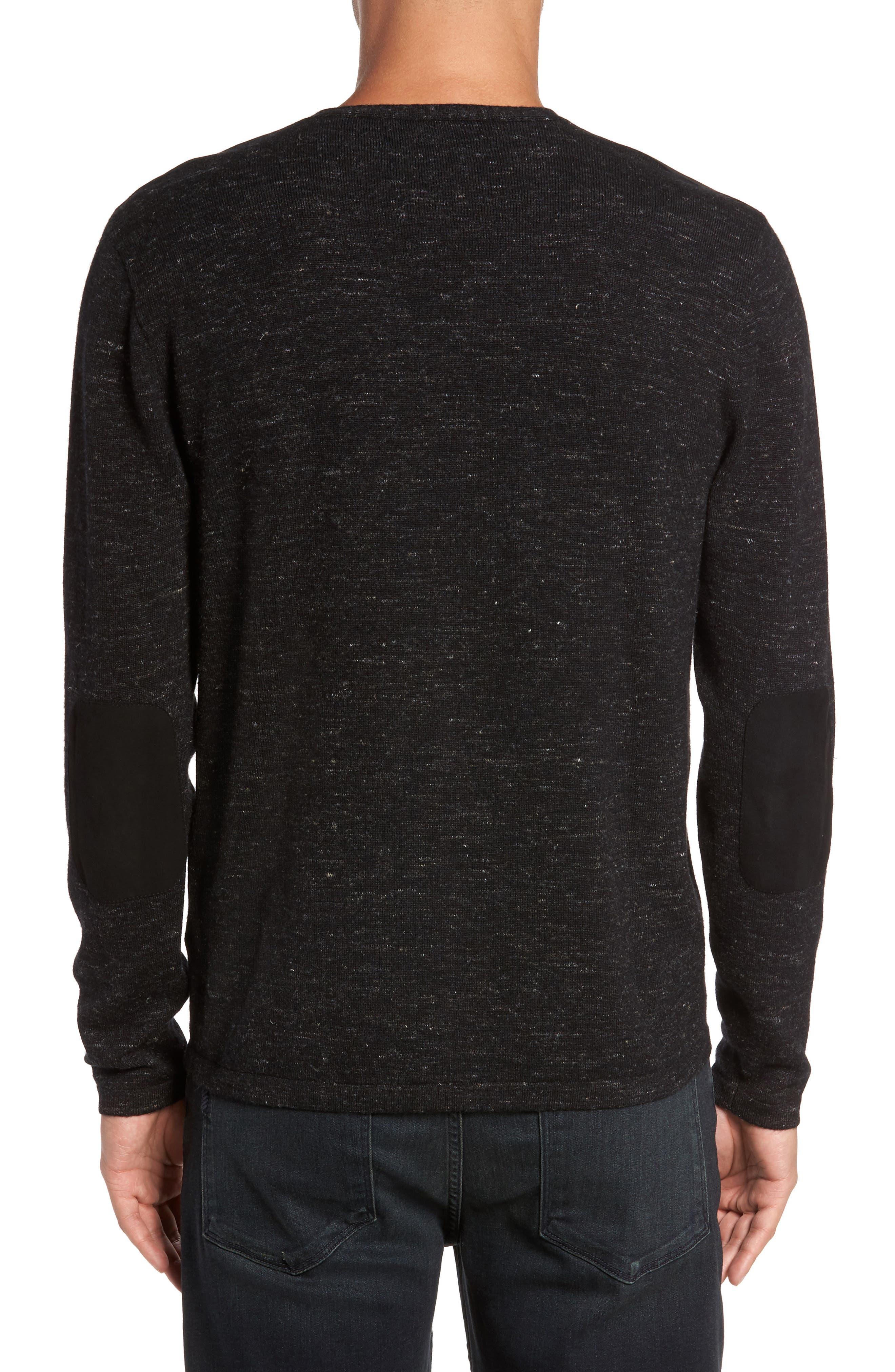 Long Sleeve V-Neck Sweater,                             Alternate thumbnail 2, color,                             001