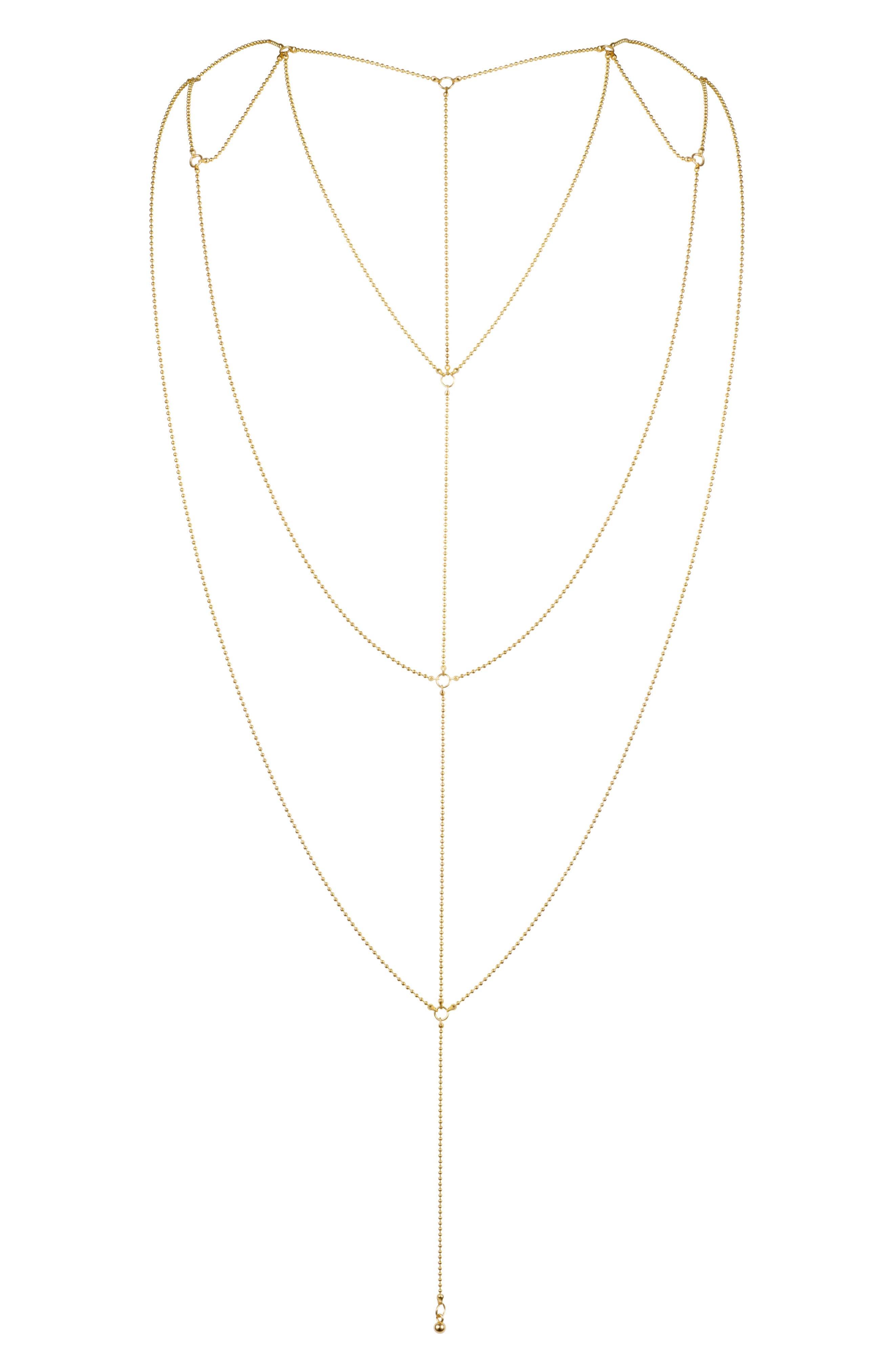 BIJOUX INDISCRETS Magnifique Body Chain, Main, color, 710