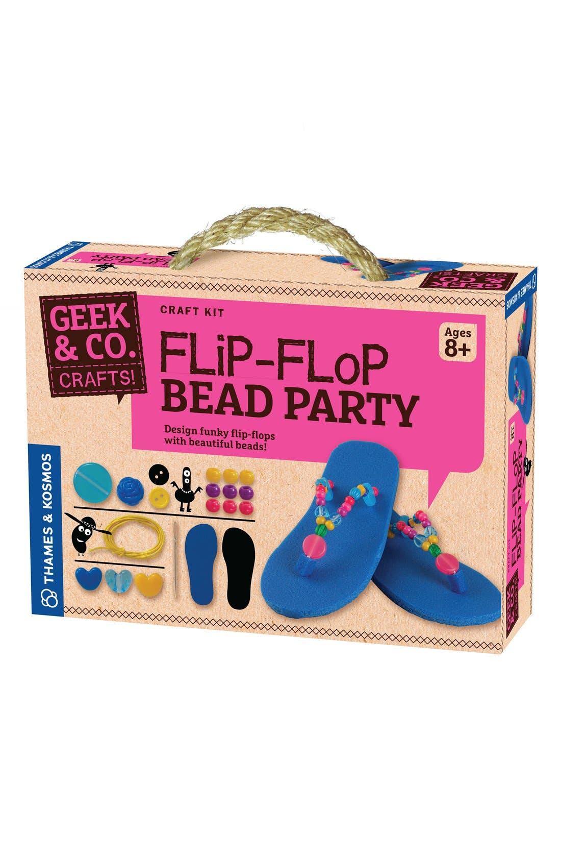 'Flip-Flop Bead Party' Kit,                             Main thumbnail 1, color,                             000