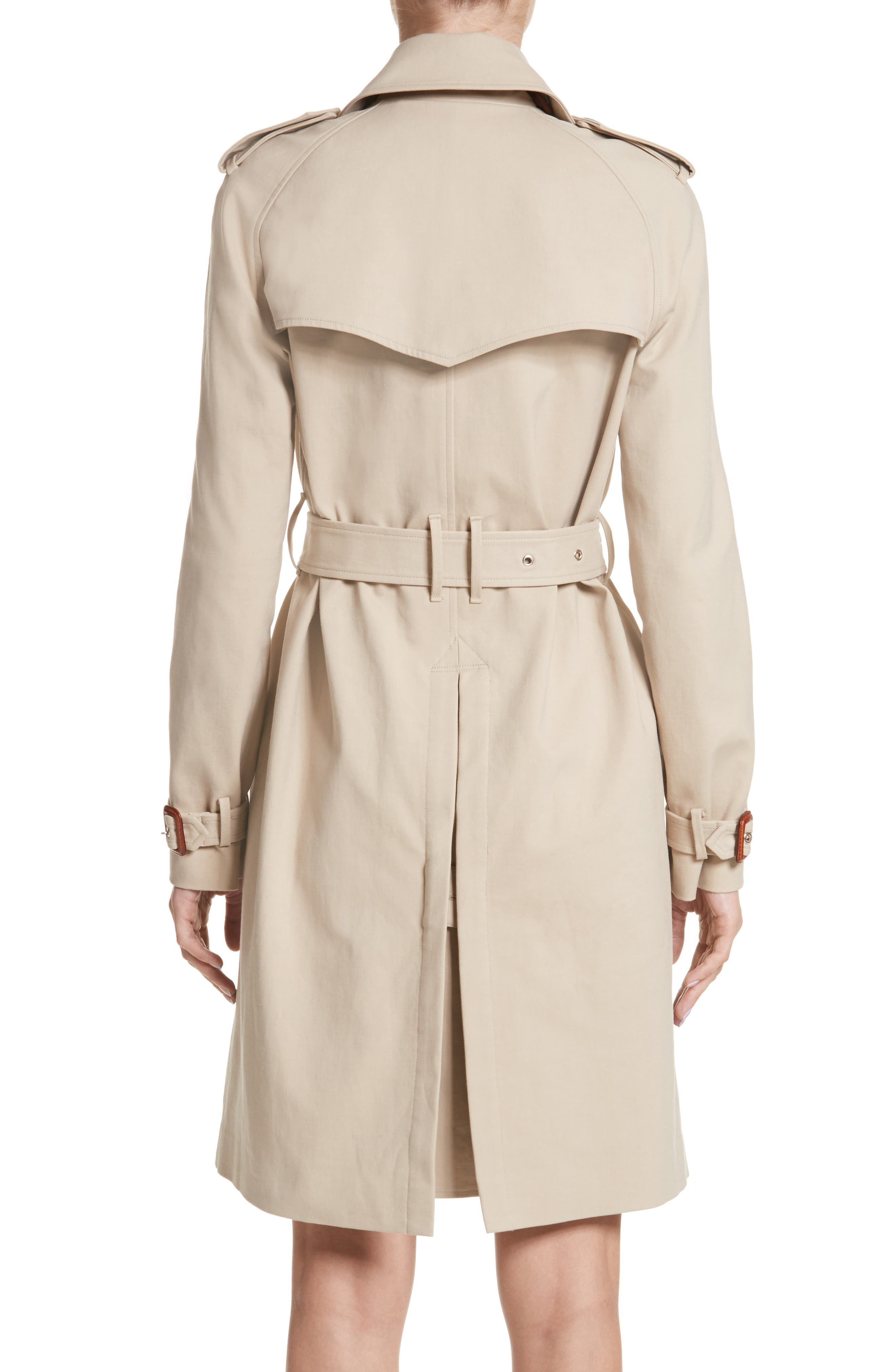 Embellished Button Trench Coat,                             Alternate thumbnail 2, color,                             250
