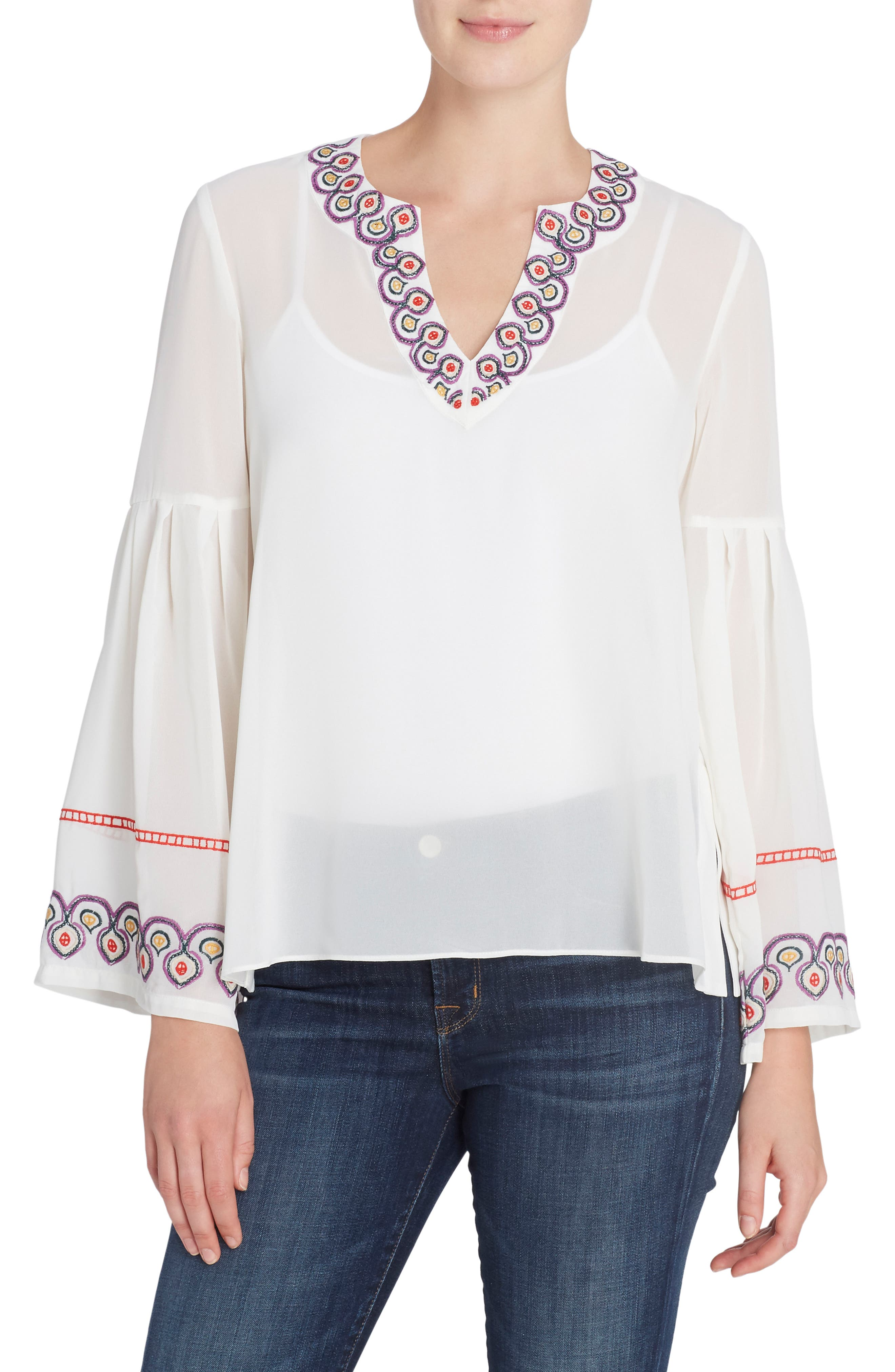 Margaret Embroidered Blouse,                             Main thumbnail 1, color,