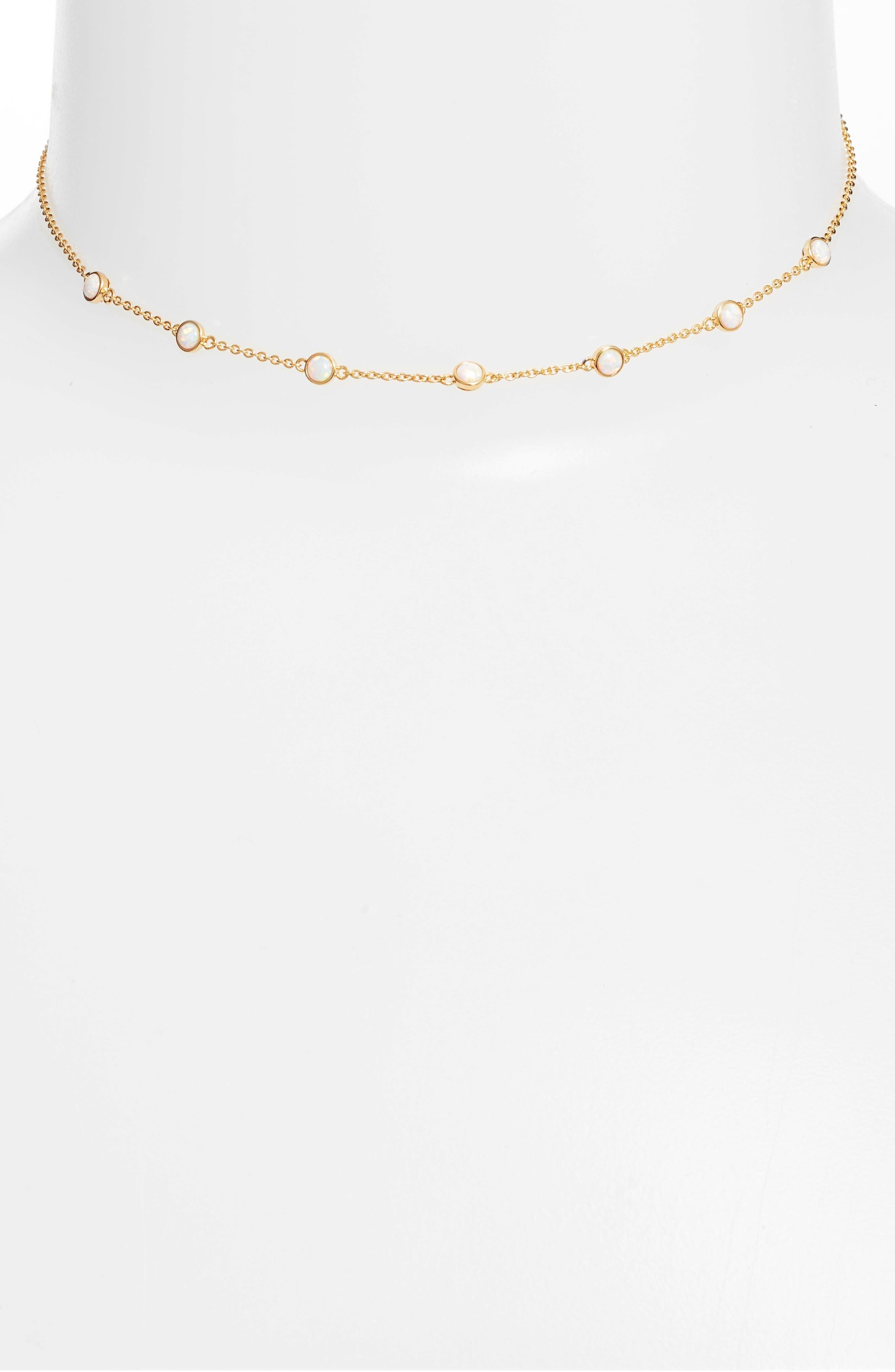 Elizabeth Choker Necklace,                         Main,                         color, 100