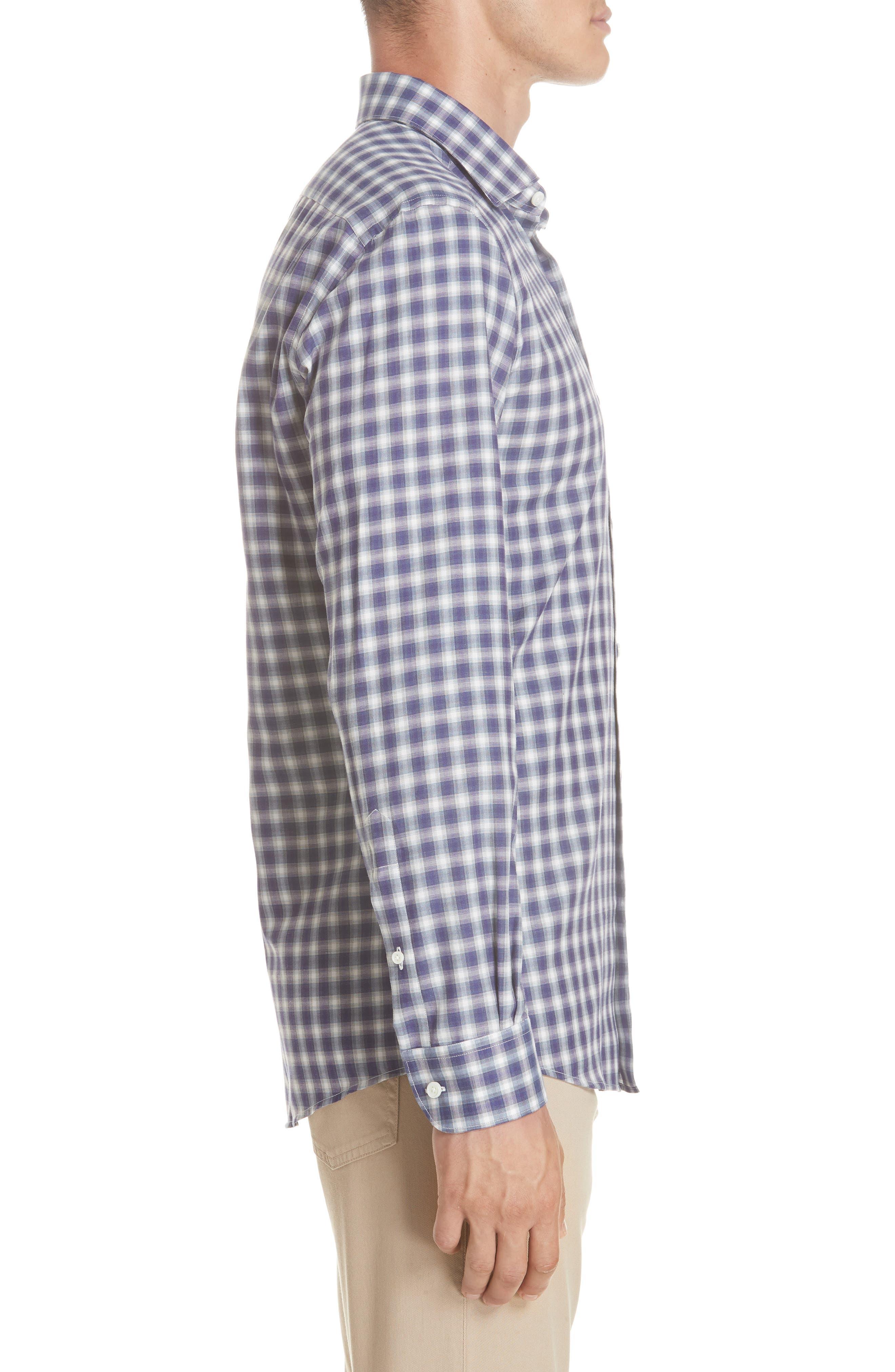 Classic Fit Check Sport Shirt,                             Alternate thumbnail 4, color,                             PURPLE