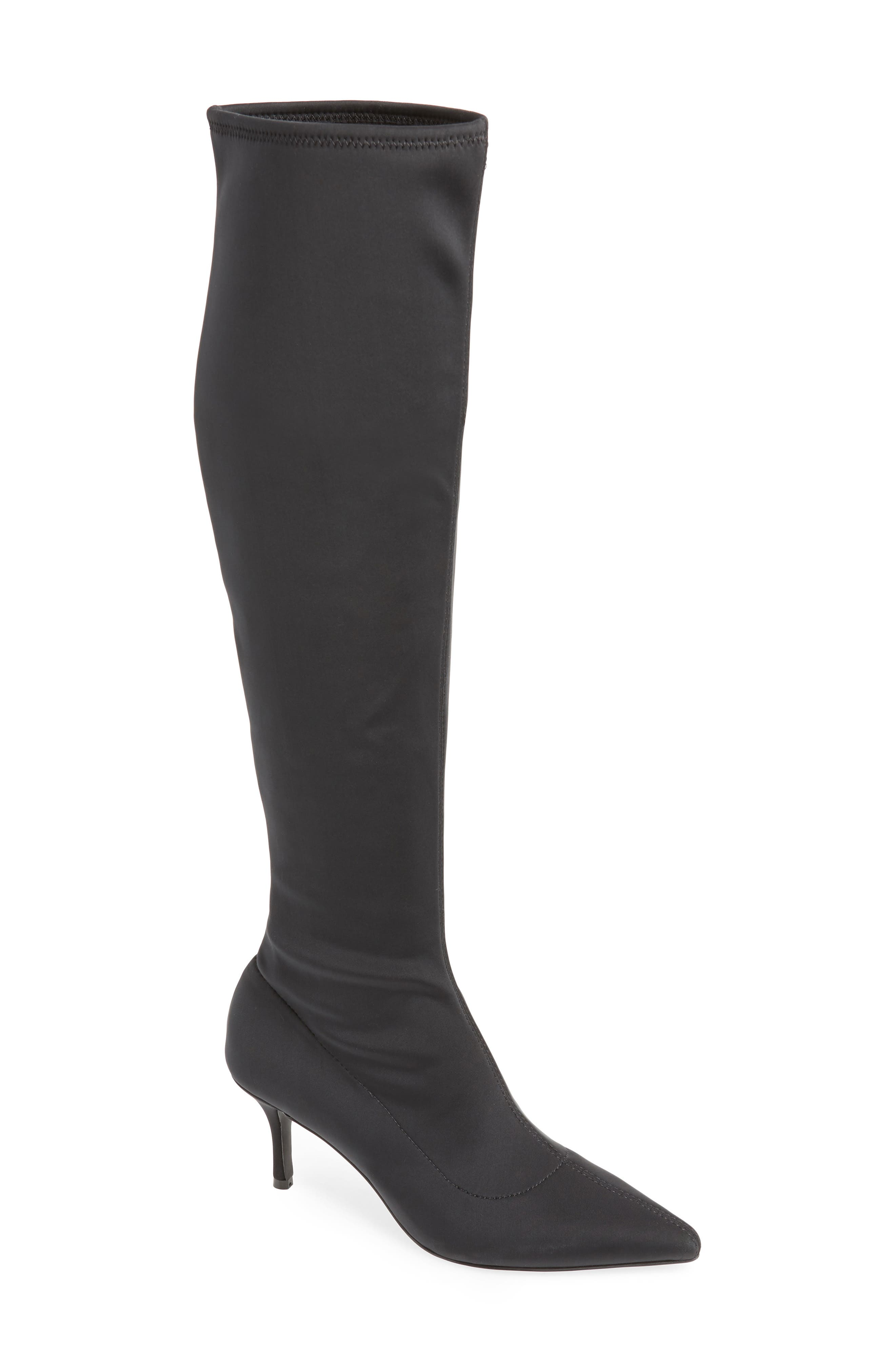 Aerin Over the Knee Boot,                             Main thumbnail 1, color,                             BLACK STRETCH SMOOTH