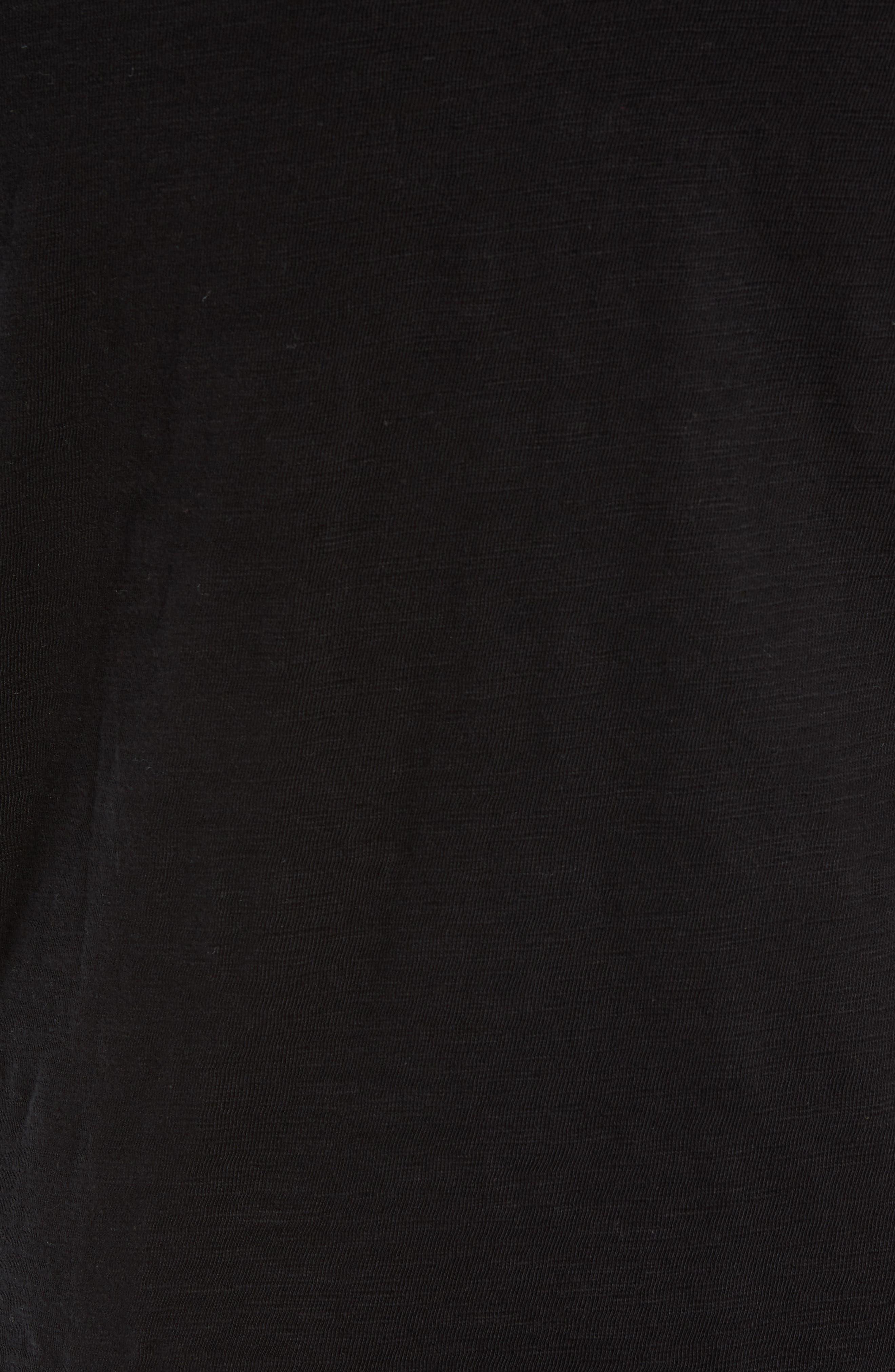 Slub Henley Top,                             Alternate thumbnail 5, color,                             BLACK