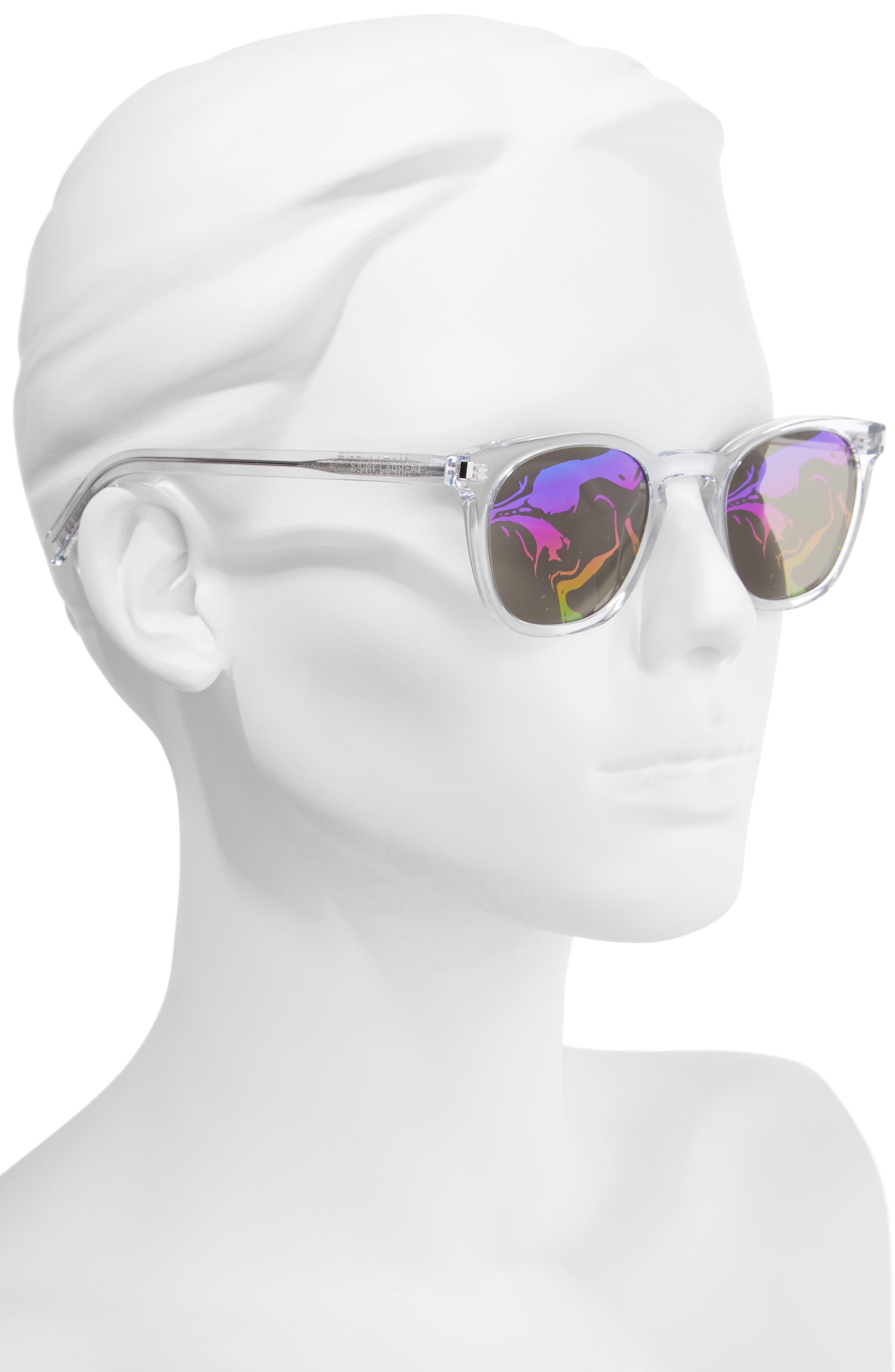 SL28 49mm Sunglasses,                             Alternate thumbnail 2, color,                             CRYSTAL