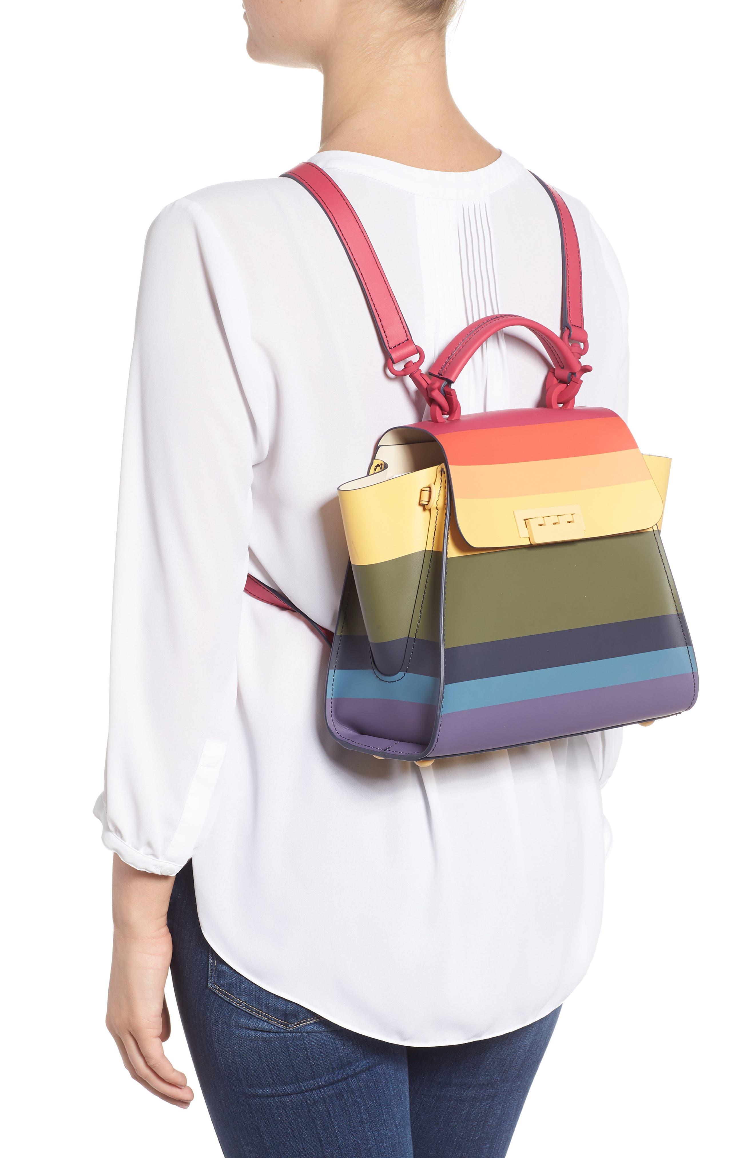 Eartha Iconic Convertible Backpack,                             Alternate thumbnail 2, color,                             RAINBOW