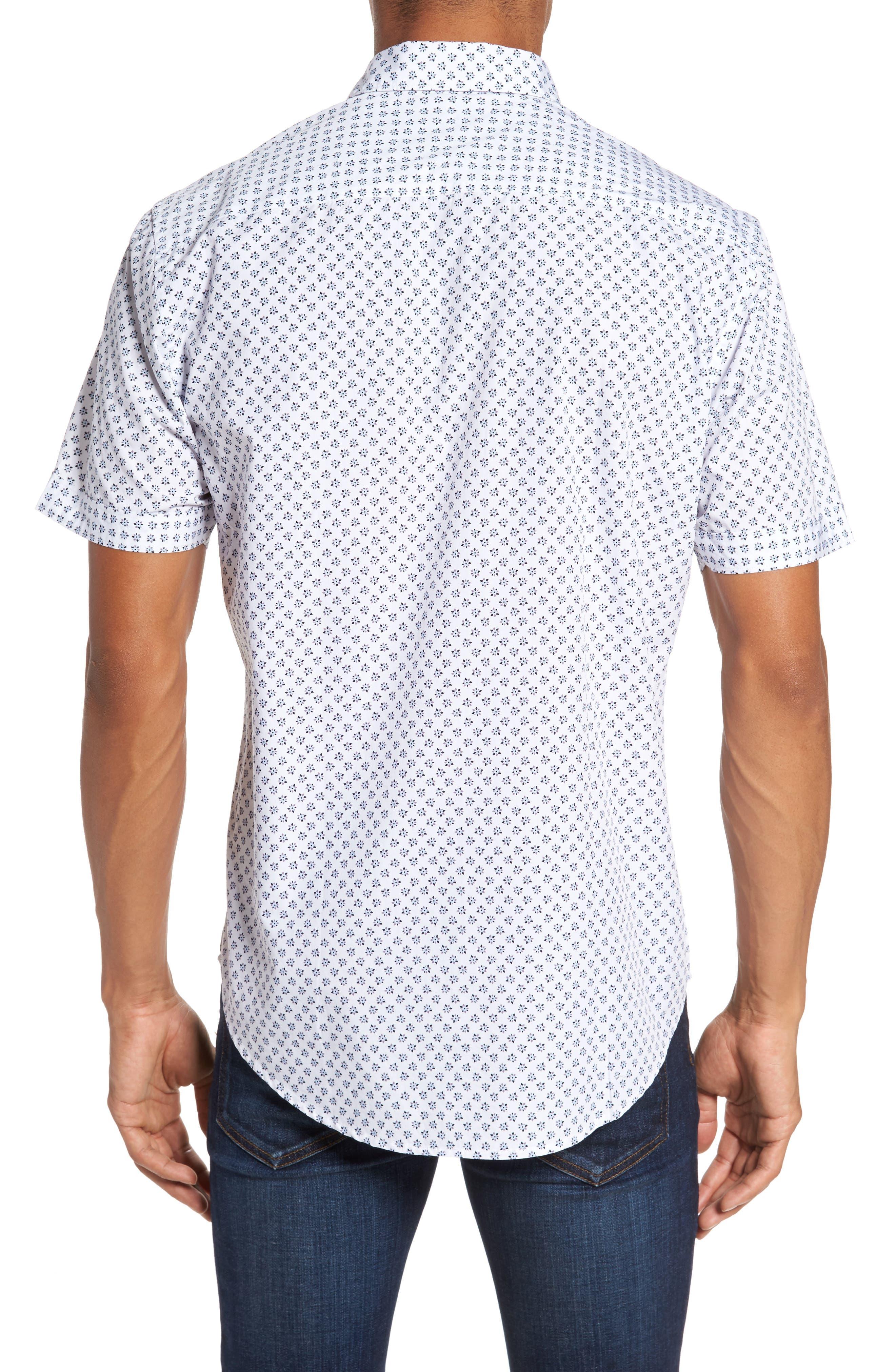 Santo Regular Fit Print Sport Shirt,                             Alternate thumbnail 2, color,                             001
