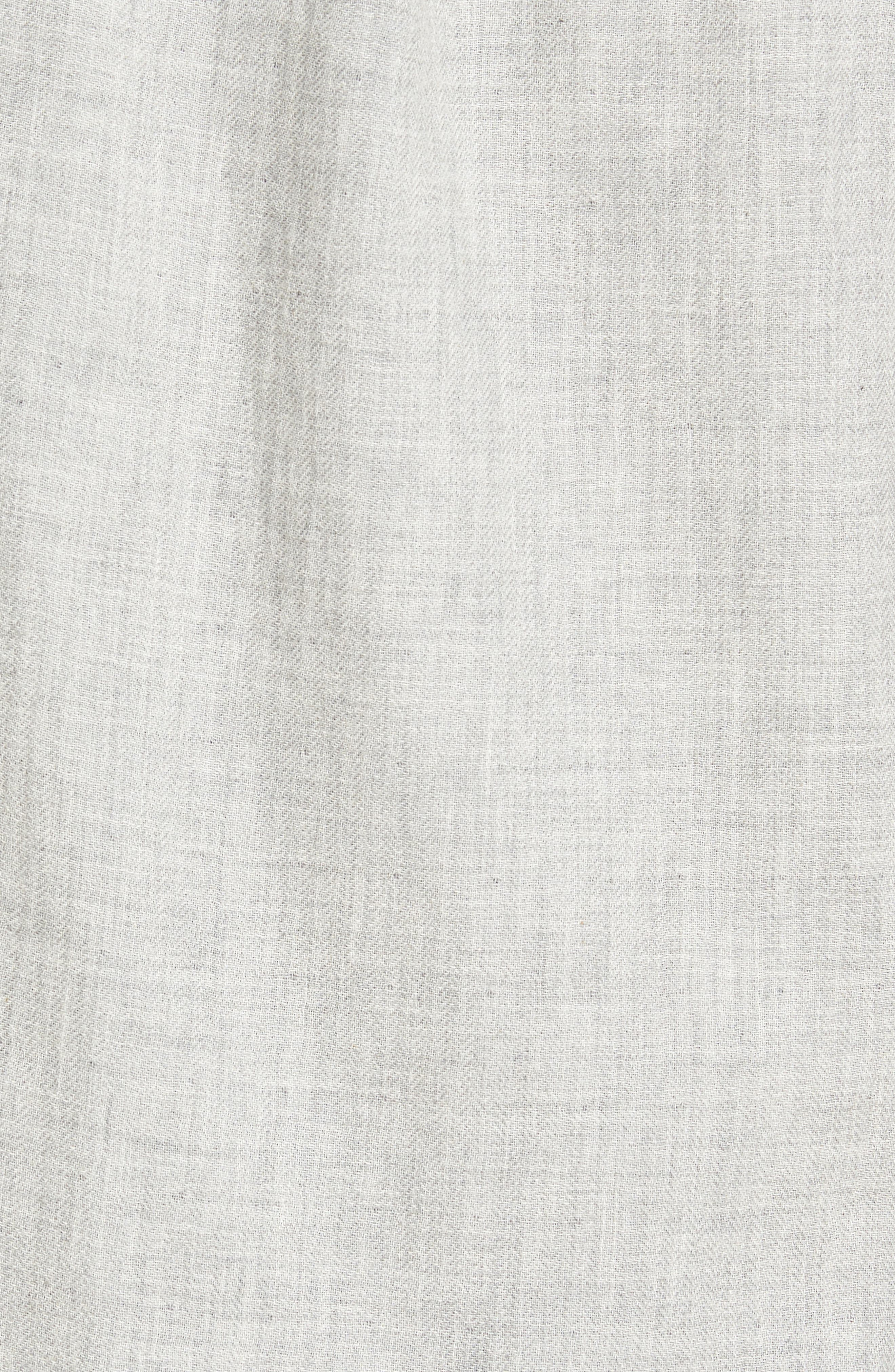Chester Modern Fit Double Cloth Herringbone Sport Shirt,                             Alternate thumbnail 5, color,