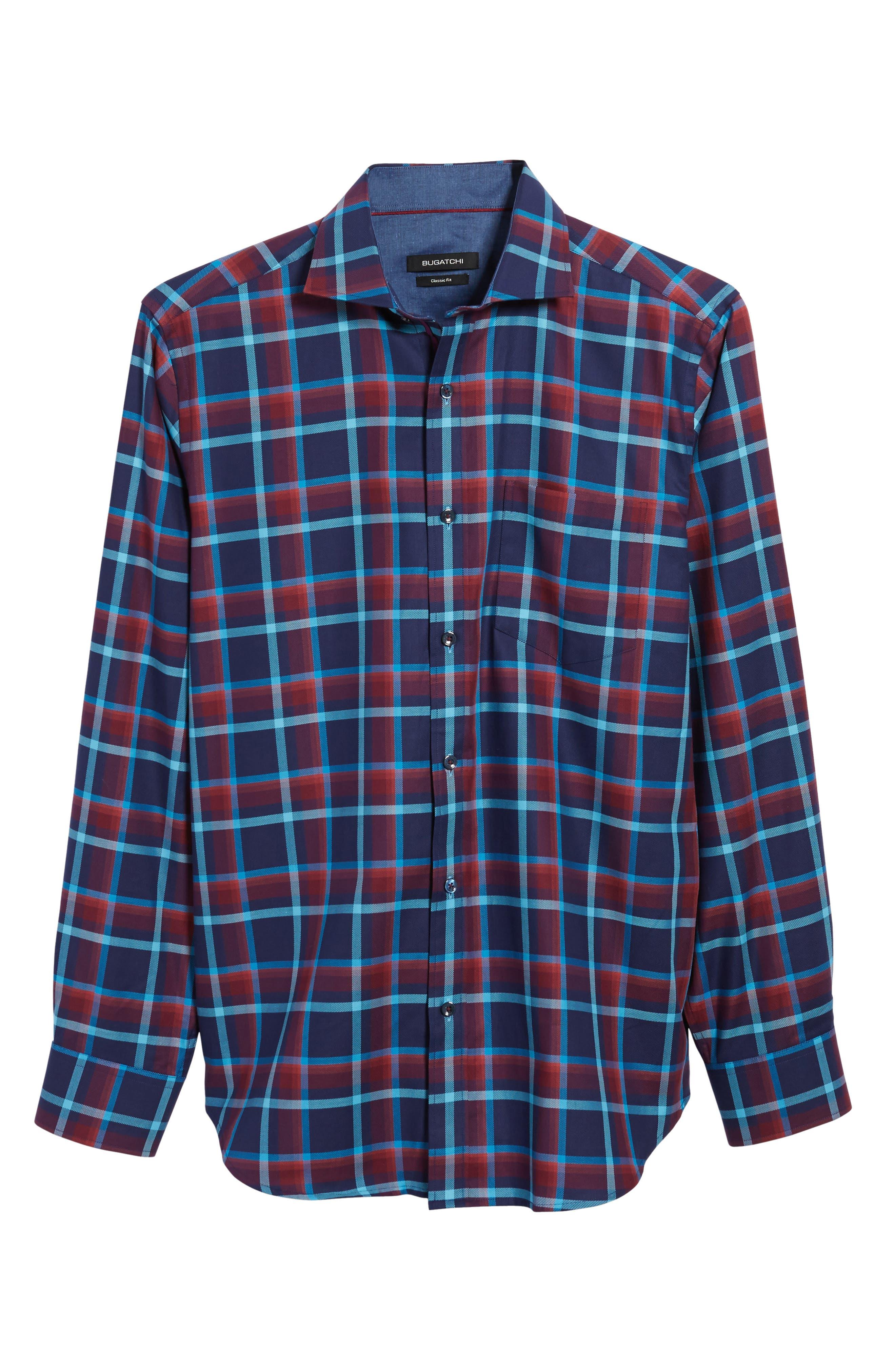 Classic Fit Check Sport Shirt,                             Alternate thumbnail 6, color,                             411