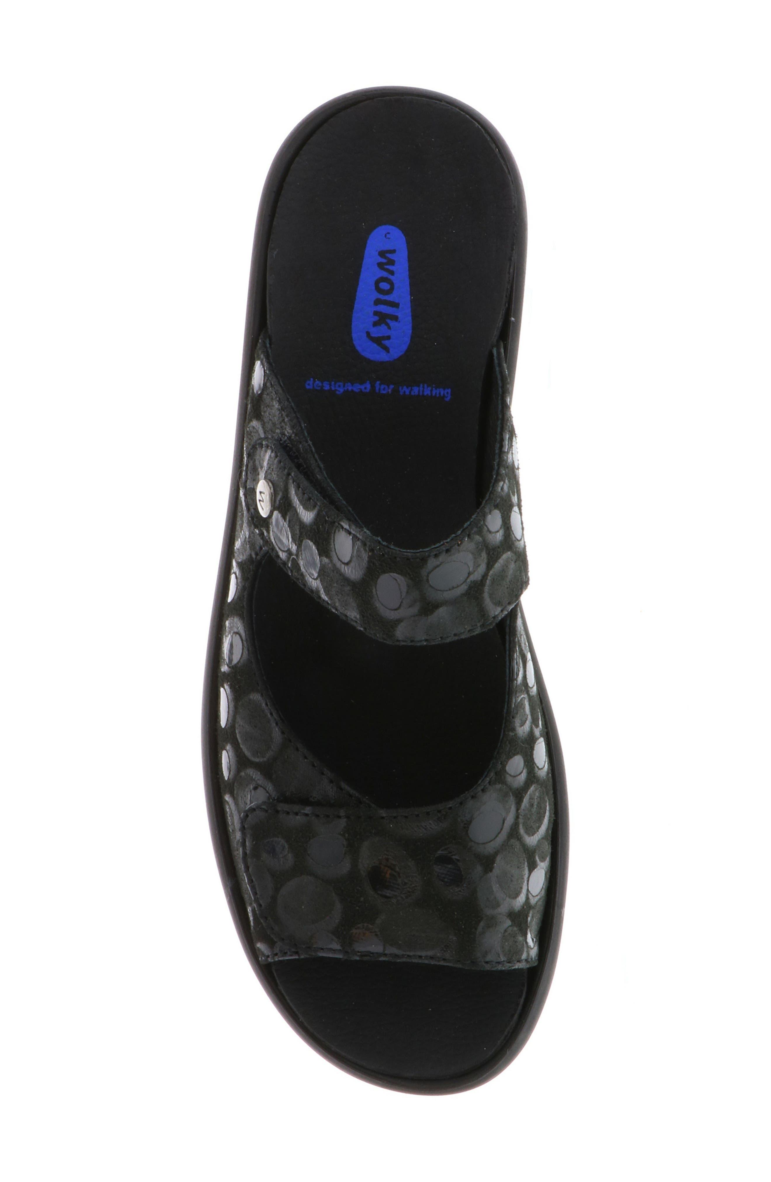 Bolena Slide Sandal,                             Alternate thumbnail 5, color,                             BLACK CIRCLE PRINT