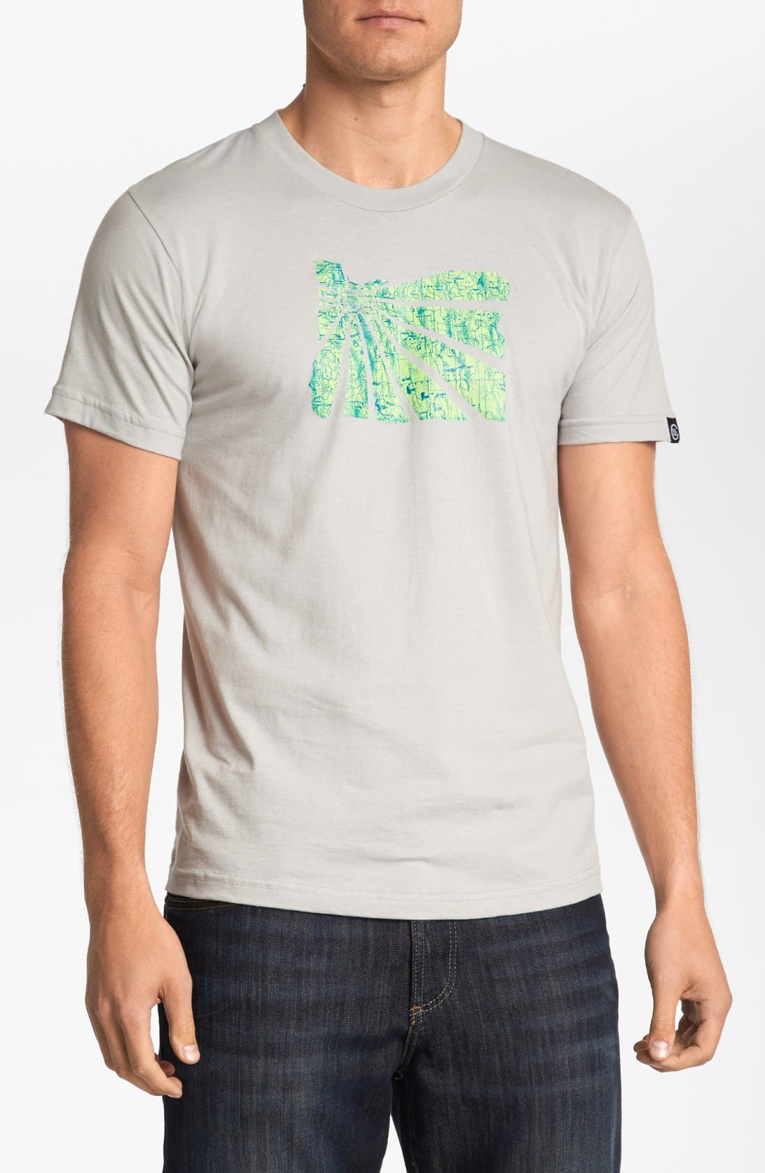 CASUAL INDUSTREES,                             'OR Brah Map' T-Shirt,                             Main thumbnail 1, color,                             045