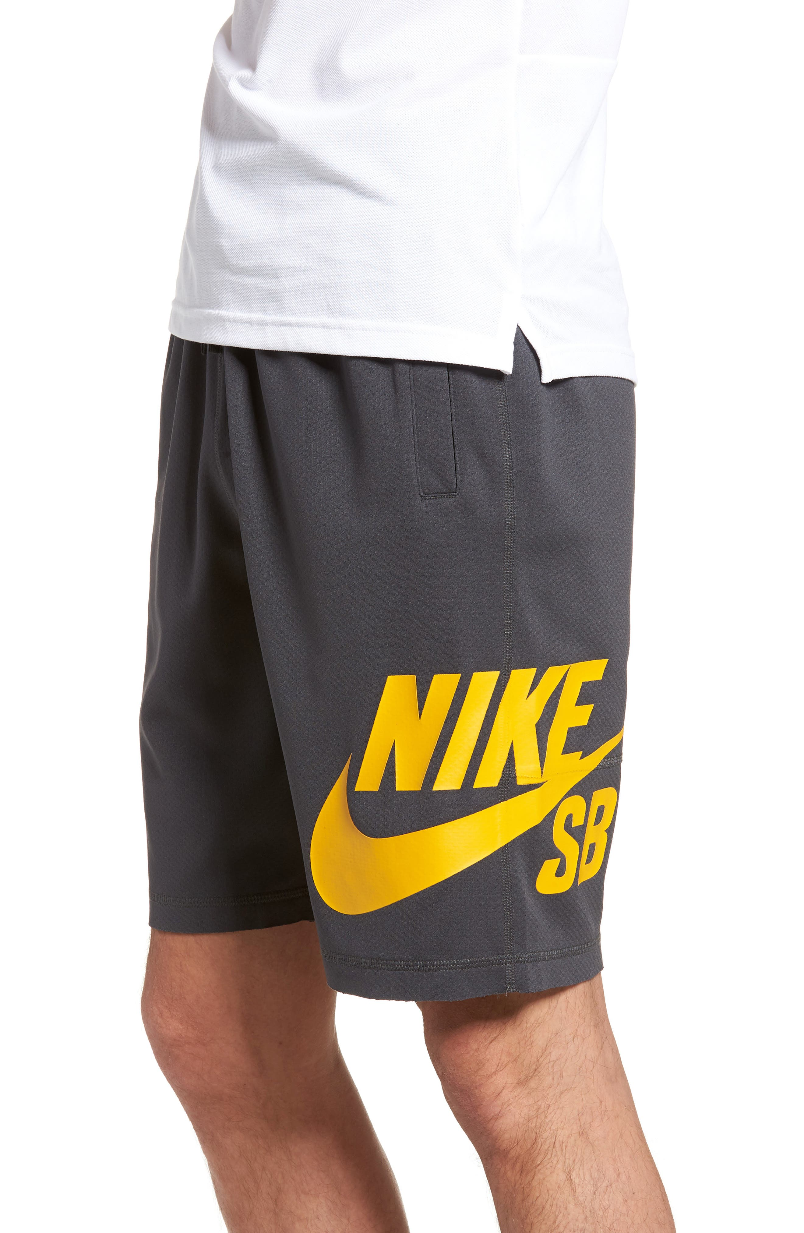 Sunday Dri-FIT Shorts,                             Alternate thumbnail 3, color,                             ANTHRACITE/ YELLOW OCHRE